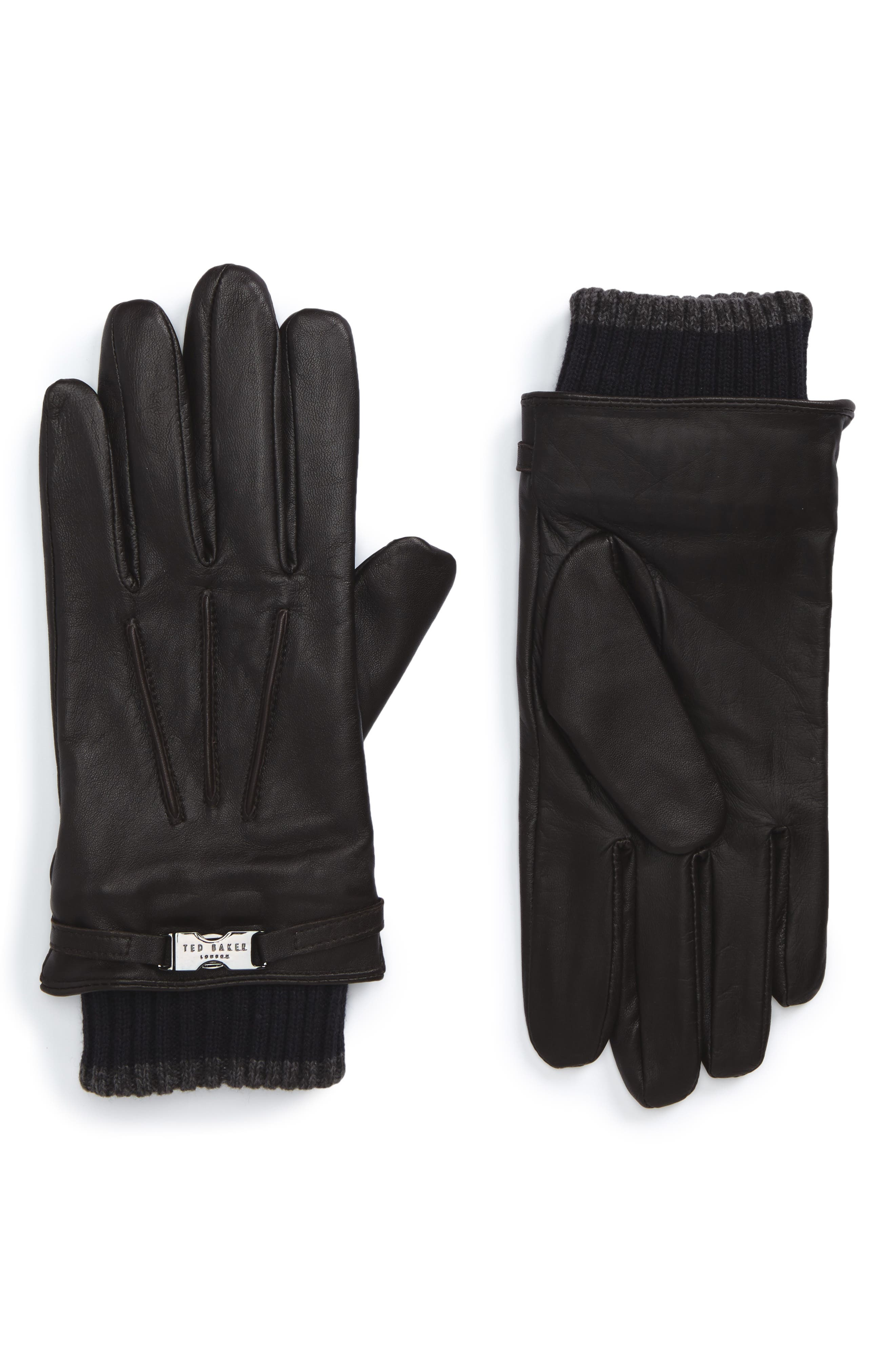 Alternate Image 1 Selected - Ted Baker London Quiff Leather Gloves