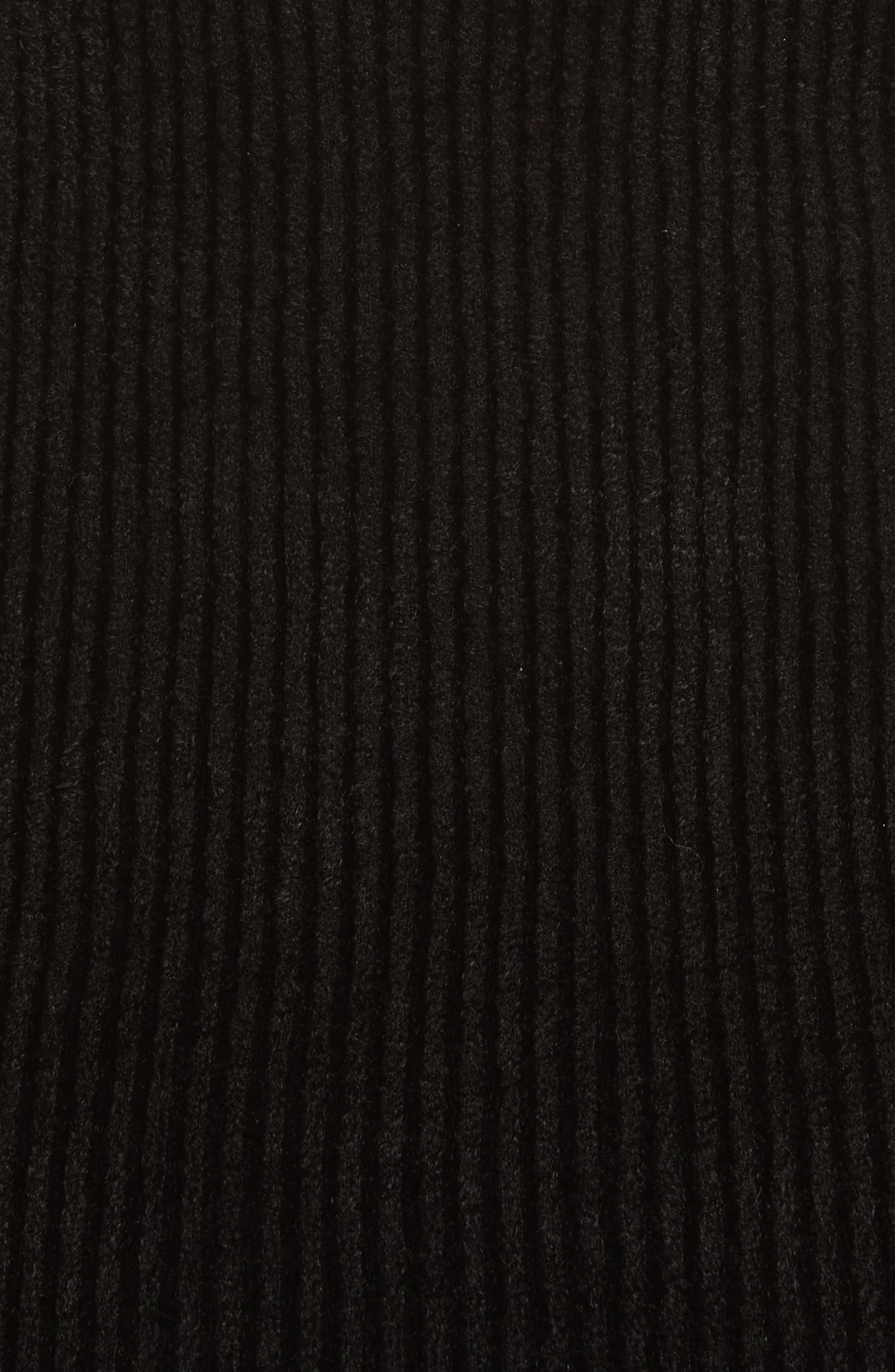 Velveteen Off the Shoulder Top,                             Alternate thumbnail 5, color,                             Black
