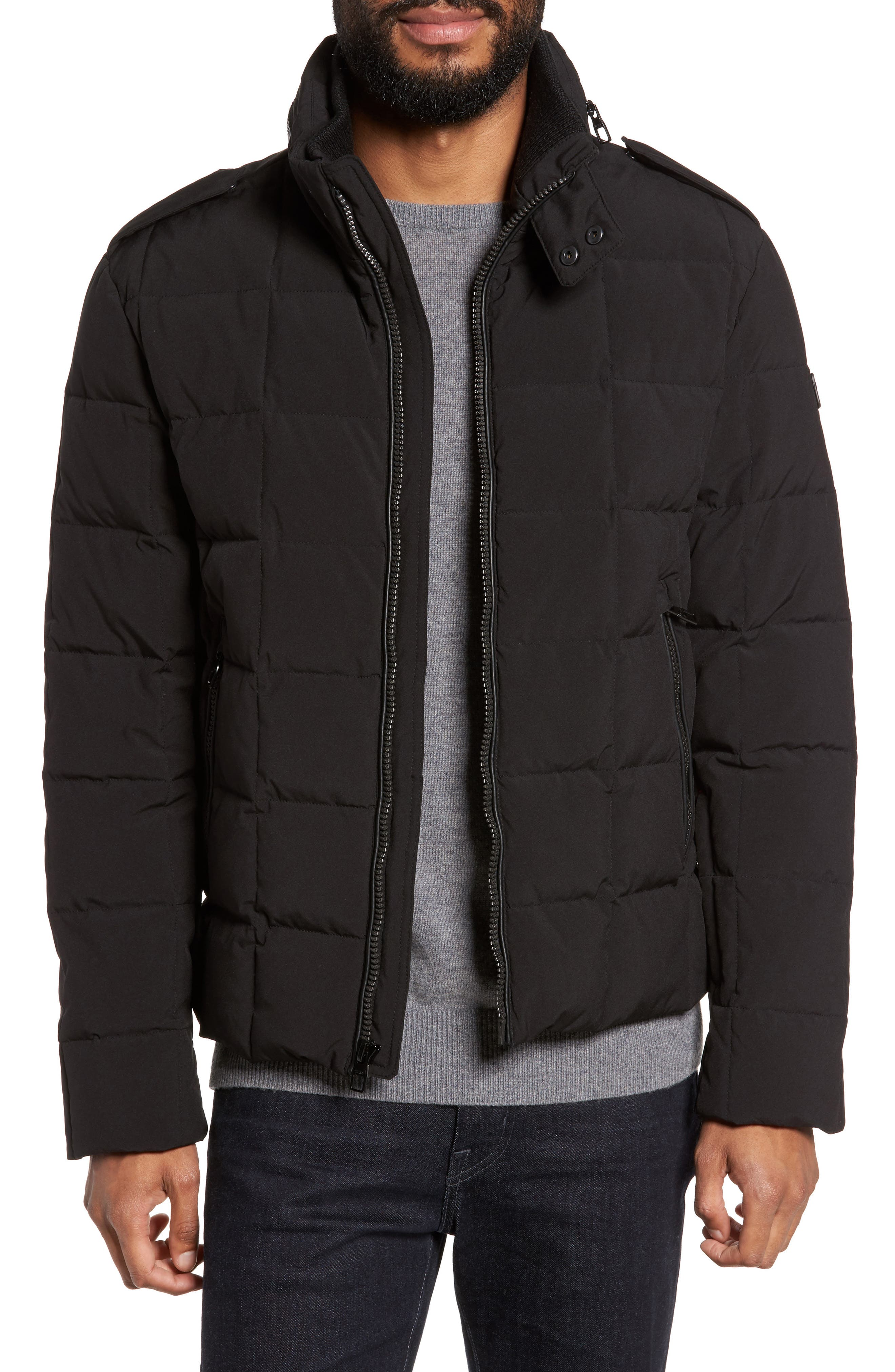 Uptown Down Puffer Jacket,                         Main,                         color, Black