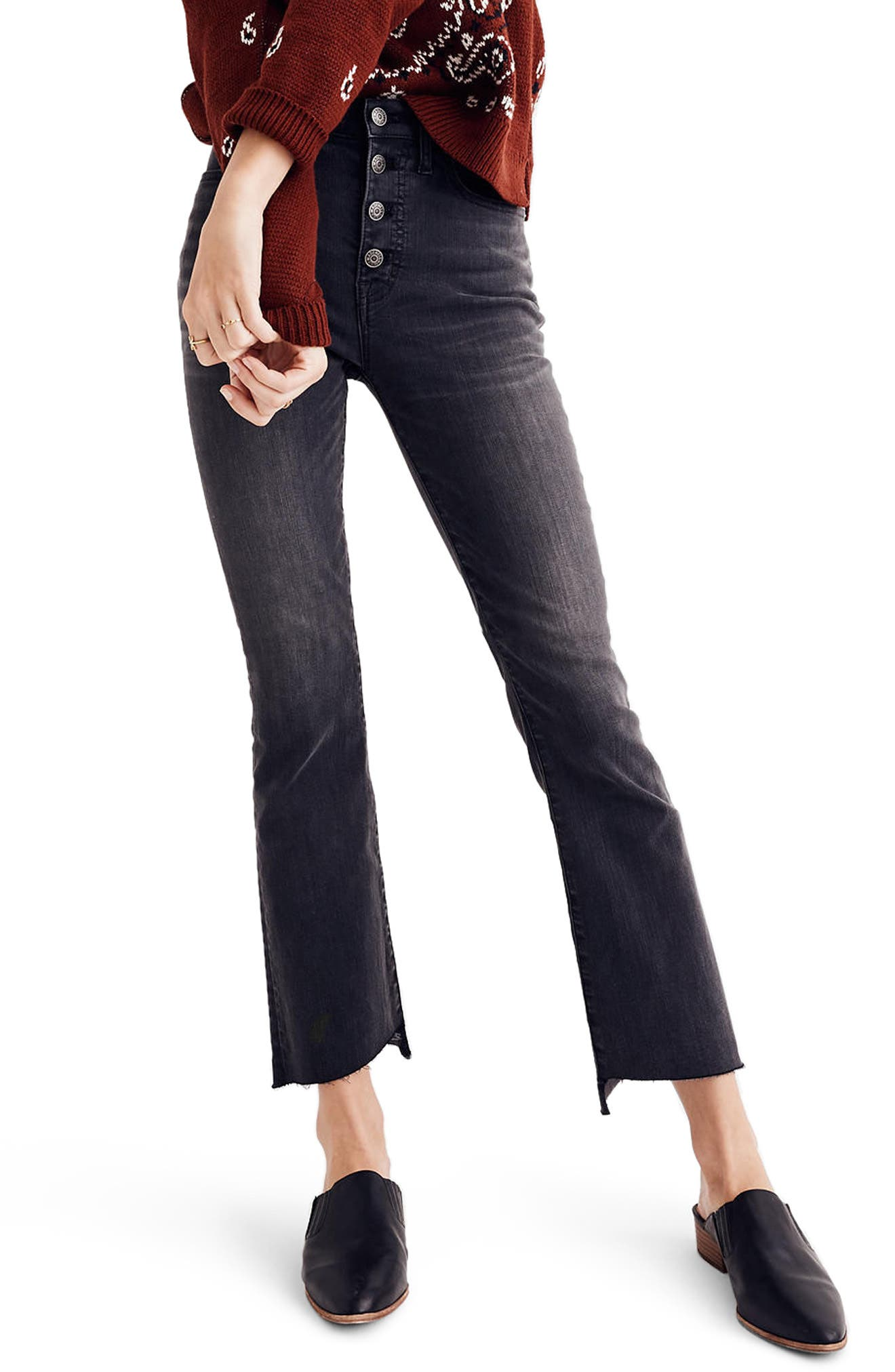 Main Image - Madewell Cali Demi Bootcut Crop Jeans (Woodston)
