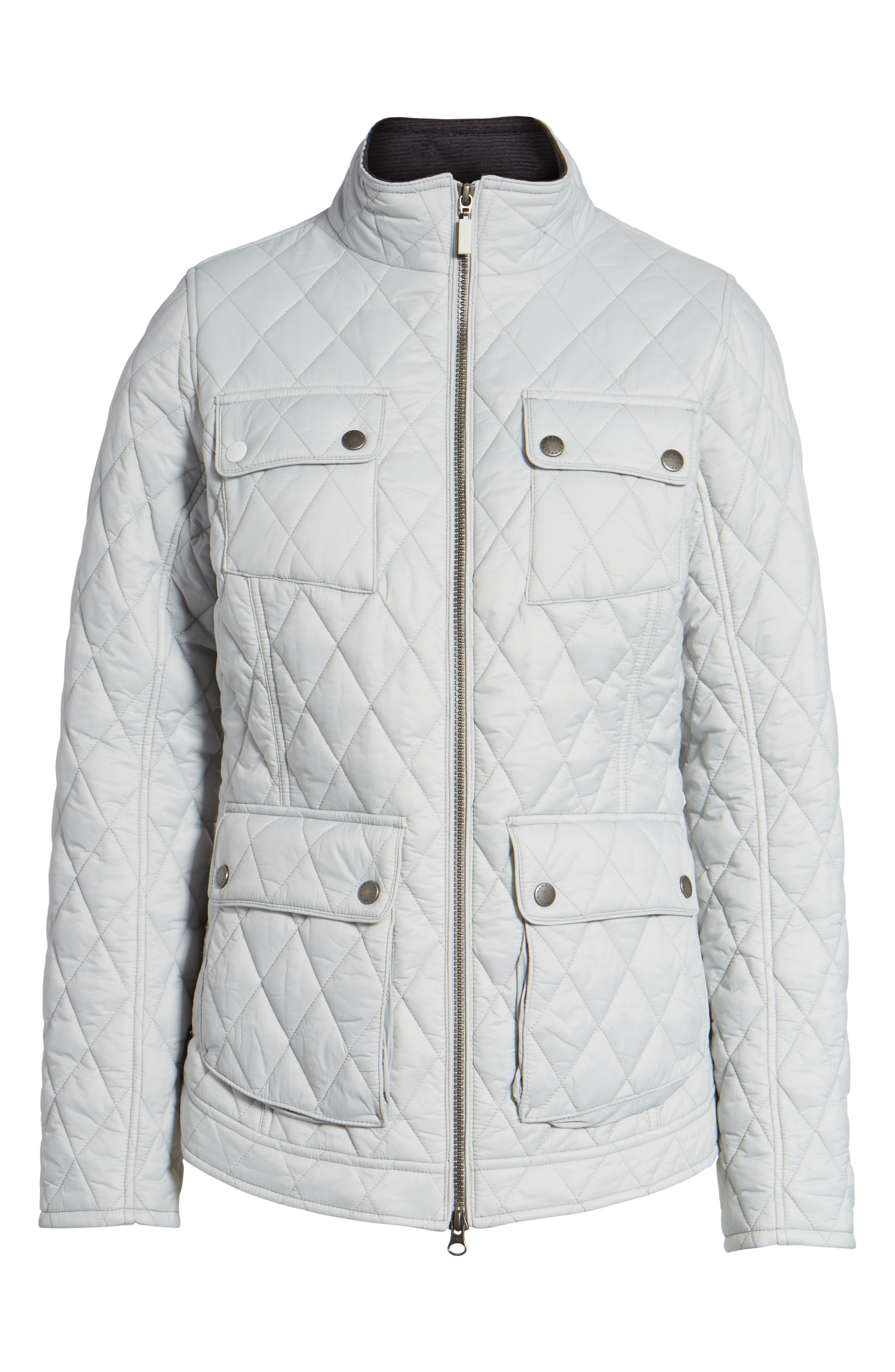 Dolostone Quilted Jacket,                             Alternate thumbnail 6, color,                             Ice White