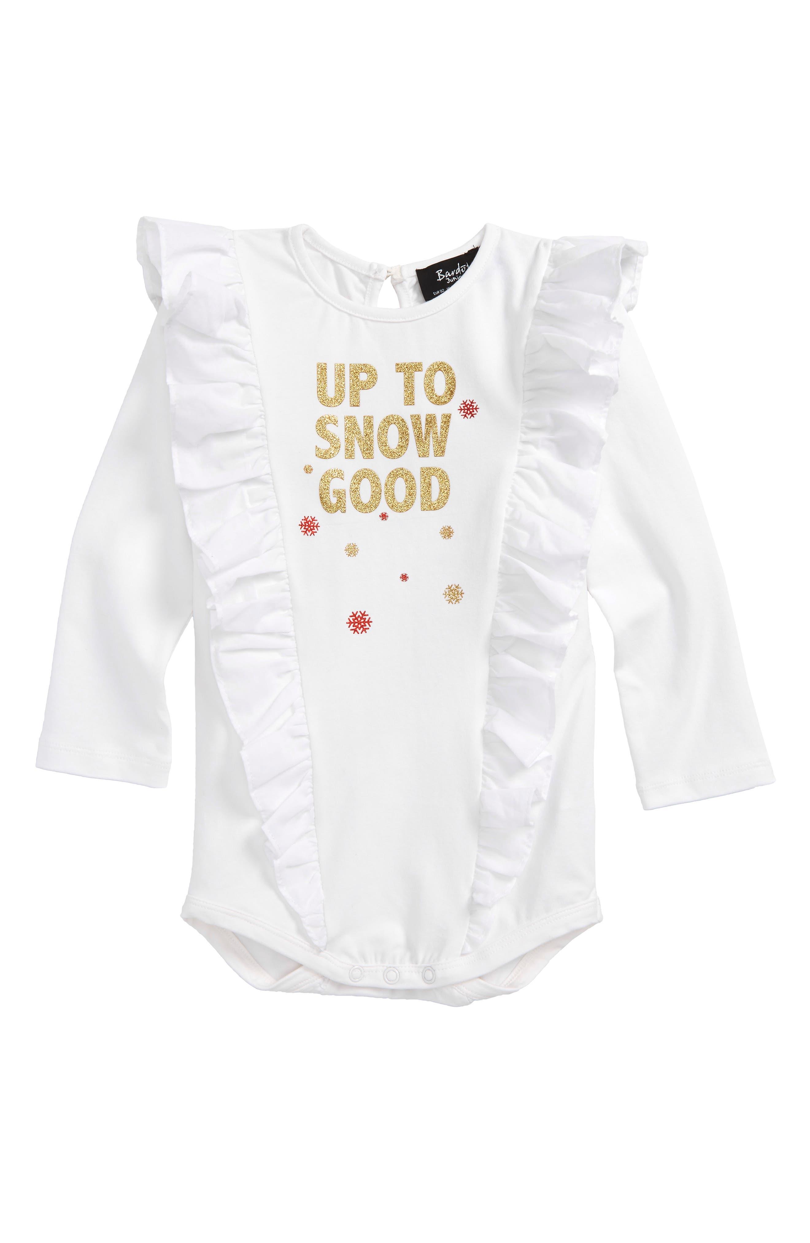 Bardot Junior Up To Snow Good Bodysuit (Baby Girls)