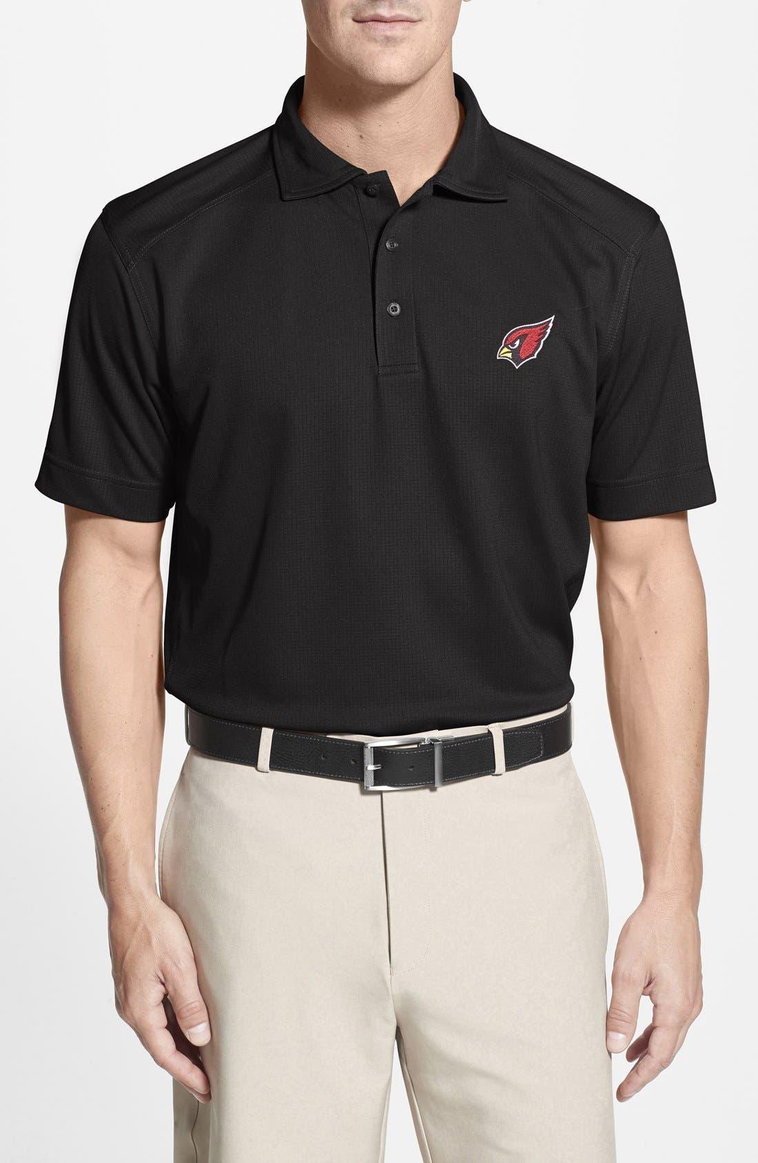Arizona Cardinals - Genre DryTec Moisture Wicking Polo,                         Main,                         color, Black