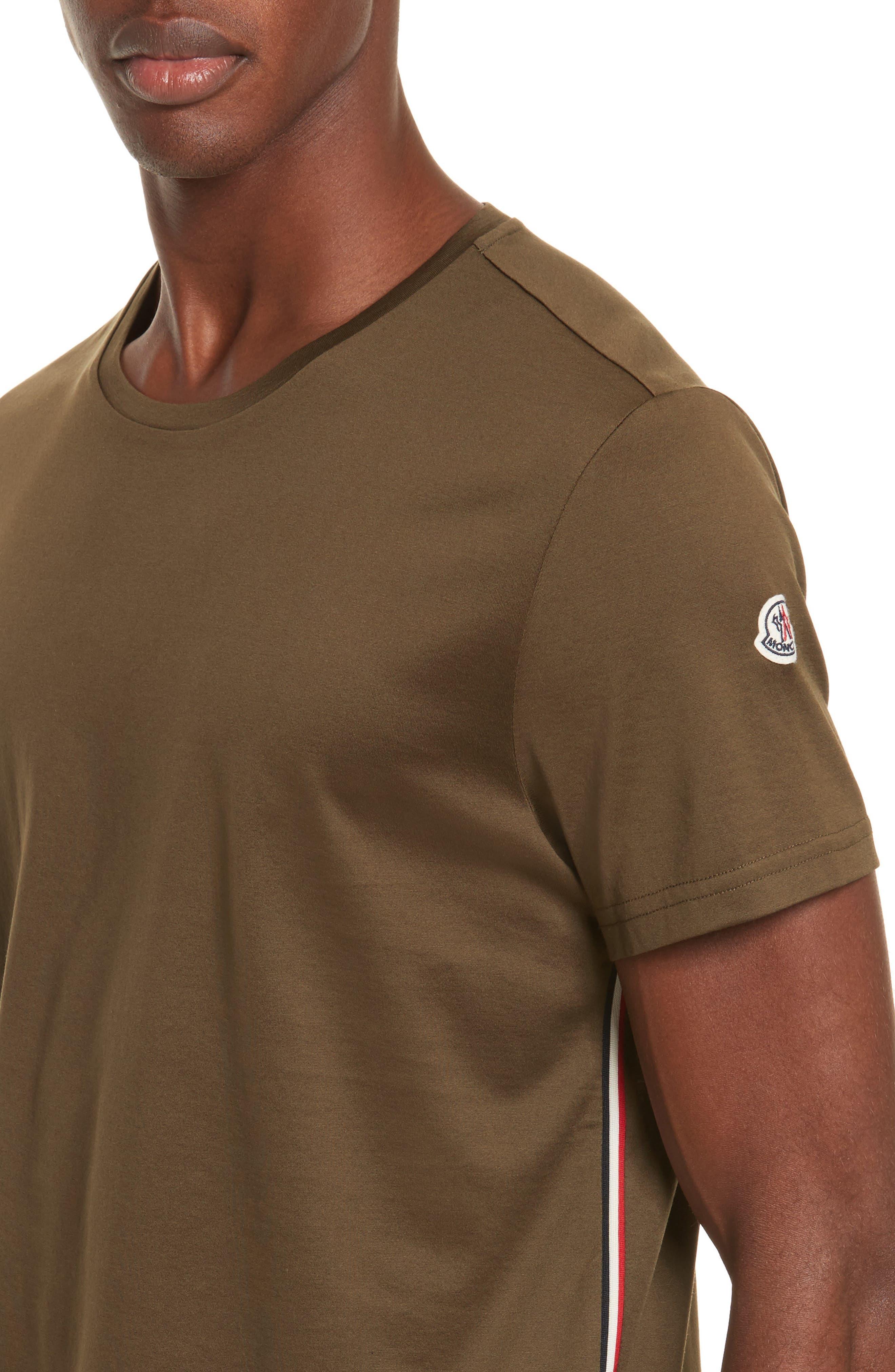 Flag Trim T-Shirt,                             Alternate thumbnail 4, color,                             Olive