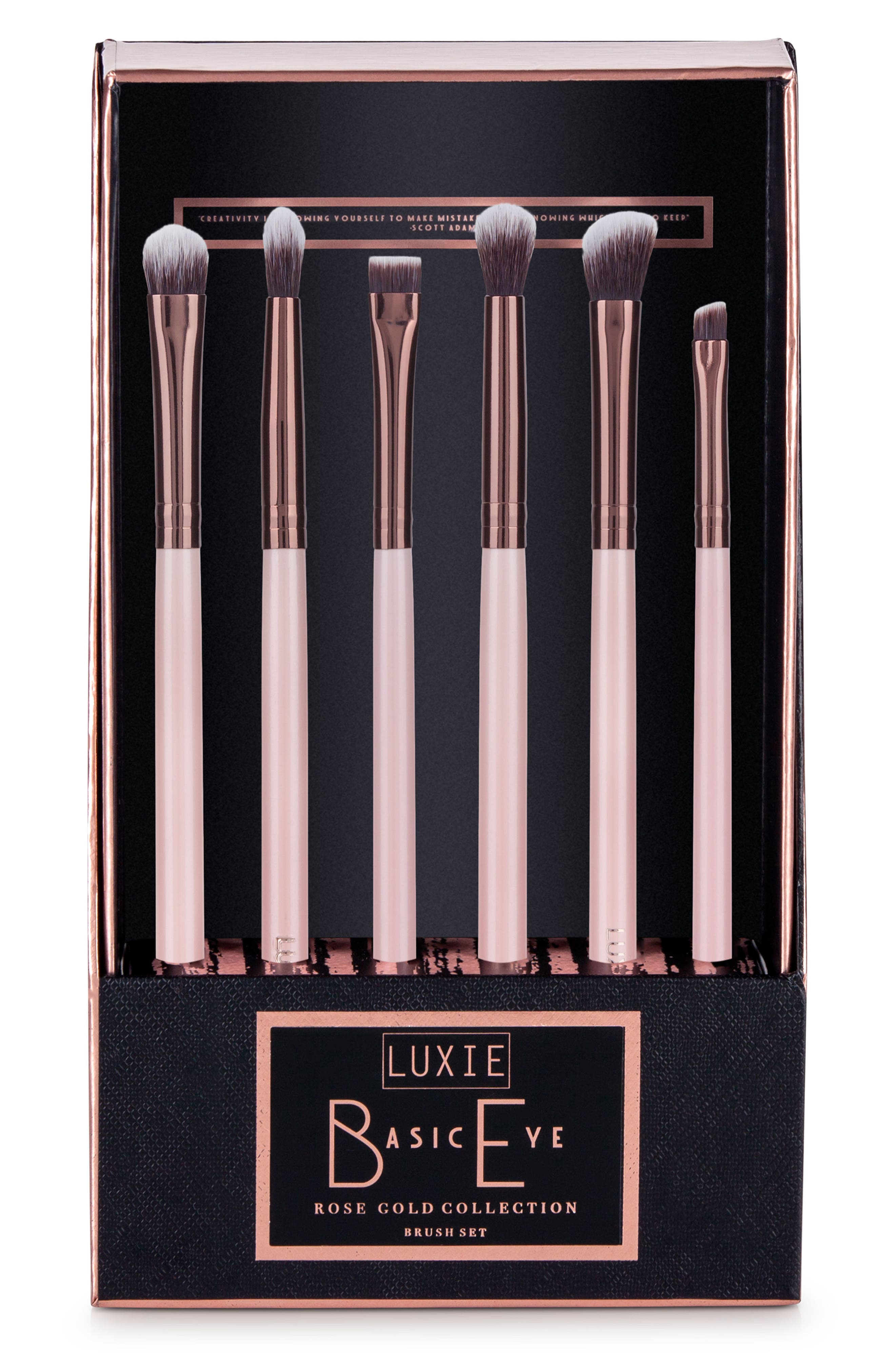 Luxie Rose Gold Basic Eye Brush Set ($70 Value)