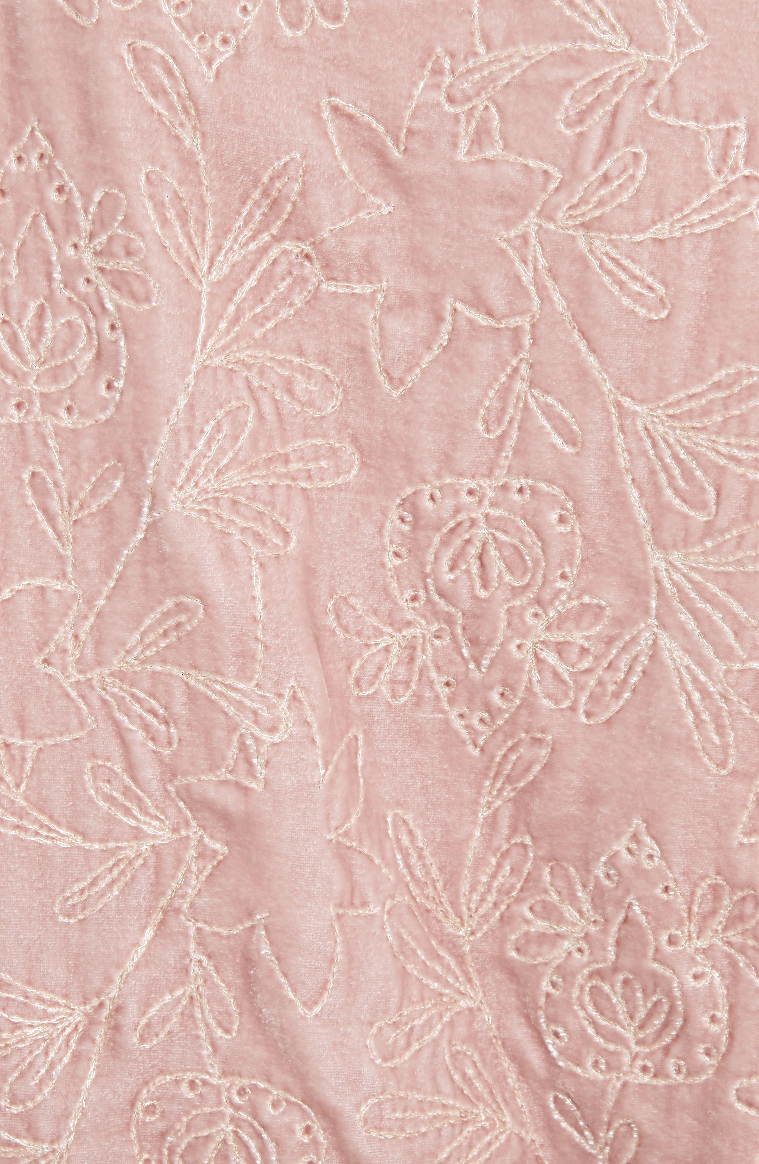 Nara Embroidered Velvet Sweatshirt,                             Alternate thumbnail 5, color,                             Mauve