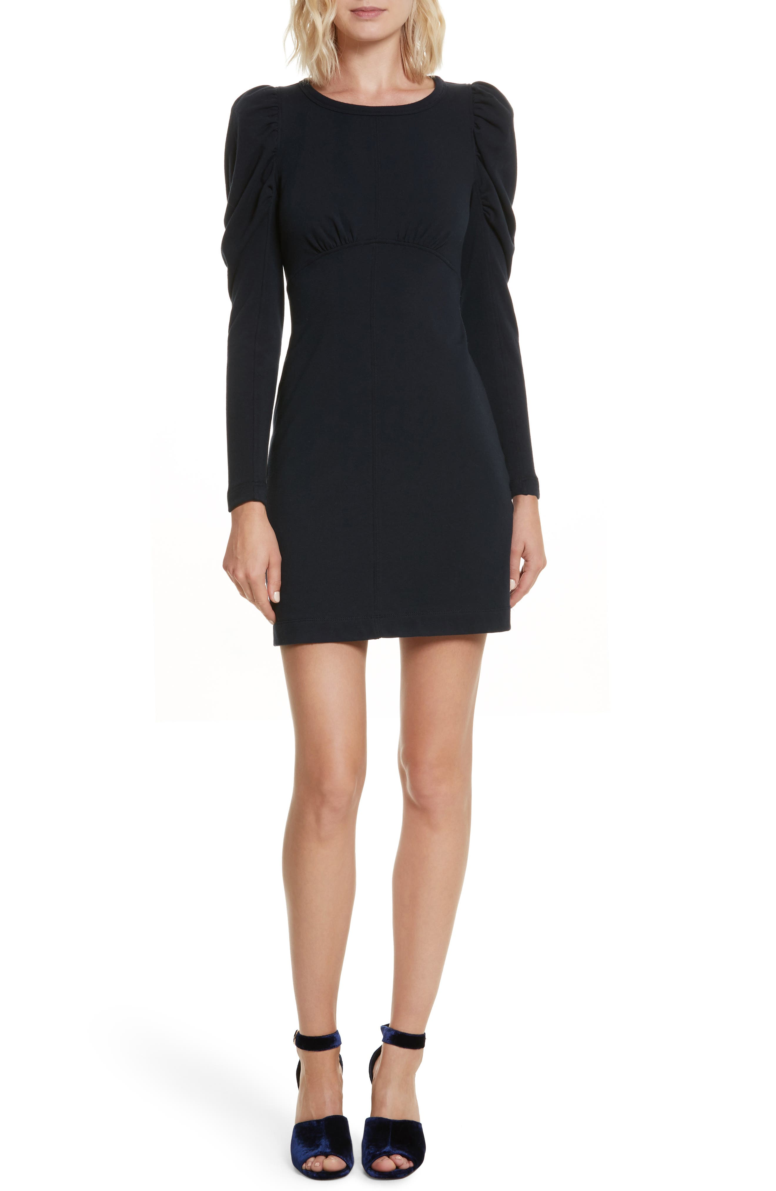 French Terry Dress,                             Main thumbnail 1, color,                             Navy