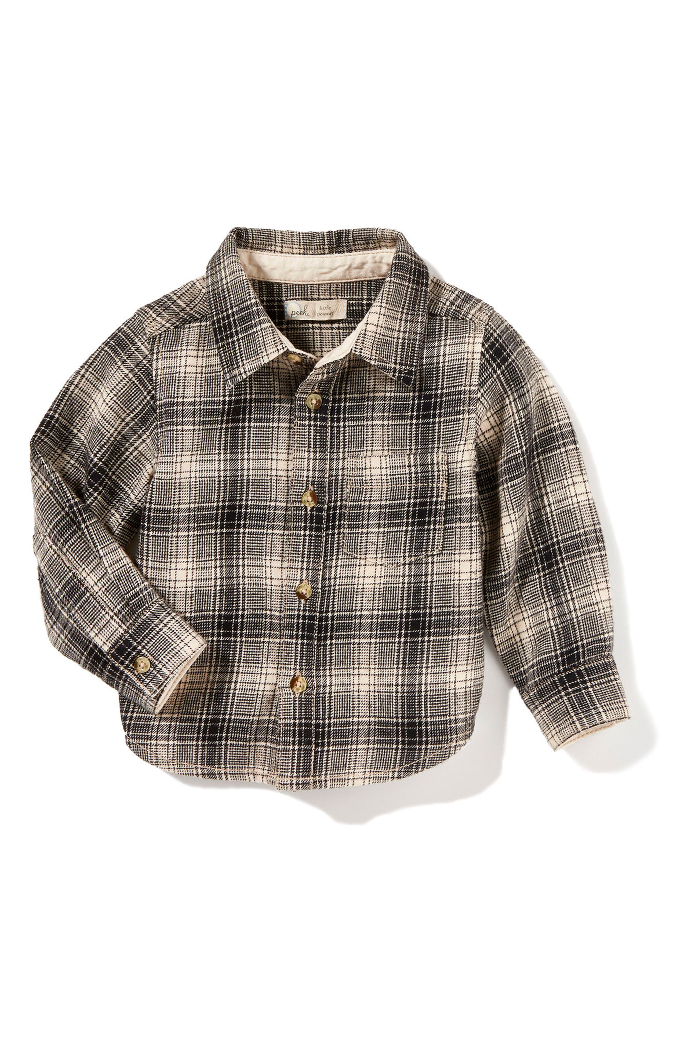 Mase Plaid Shirt,                             Main thumbnail 1, color,                             Black