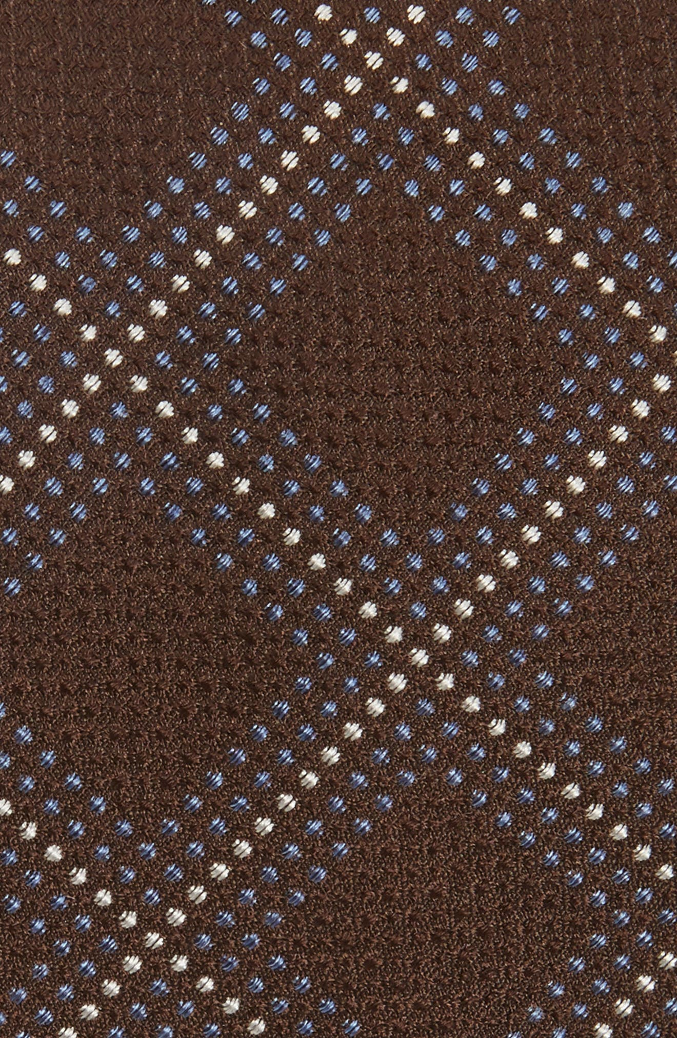 Grid Silk Blend Tie,                             Alternate thumbnail 2, color,                             Brown