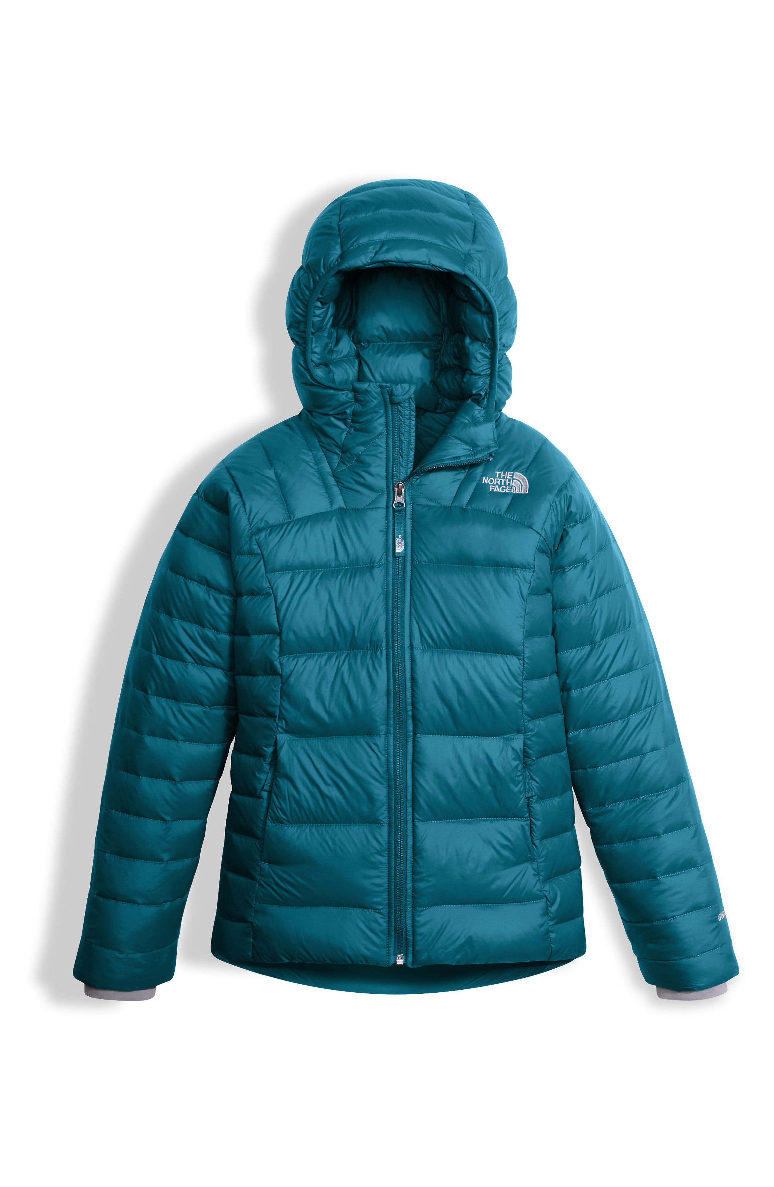 Alternate Image 1 Selected - The North Face Double Down Water Resistant 550-Fill Power Down Insulated Jacket (Little Girls & Big Girls)