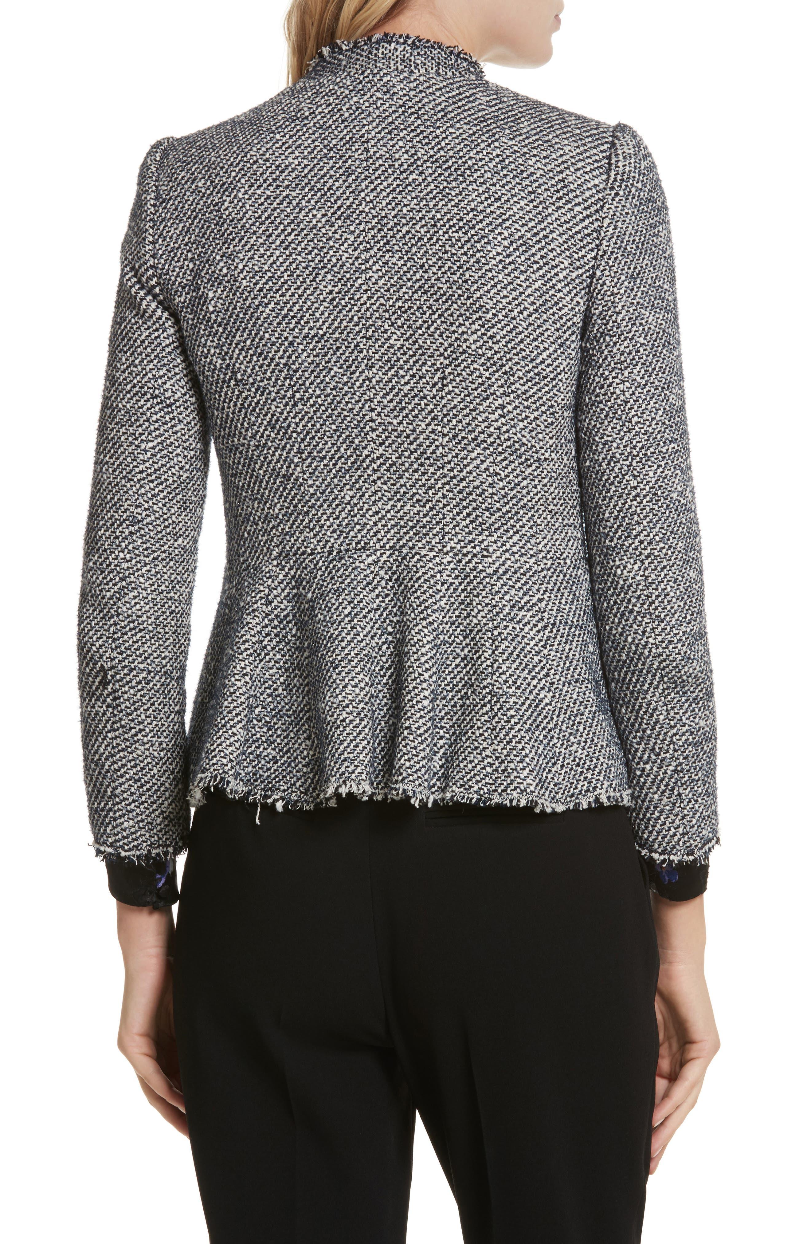 Alternate Image 2  - Rebecca Taylor Metallic Tweed Jacket