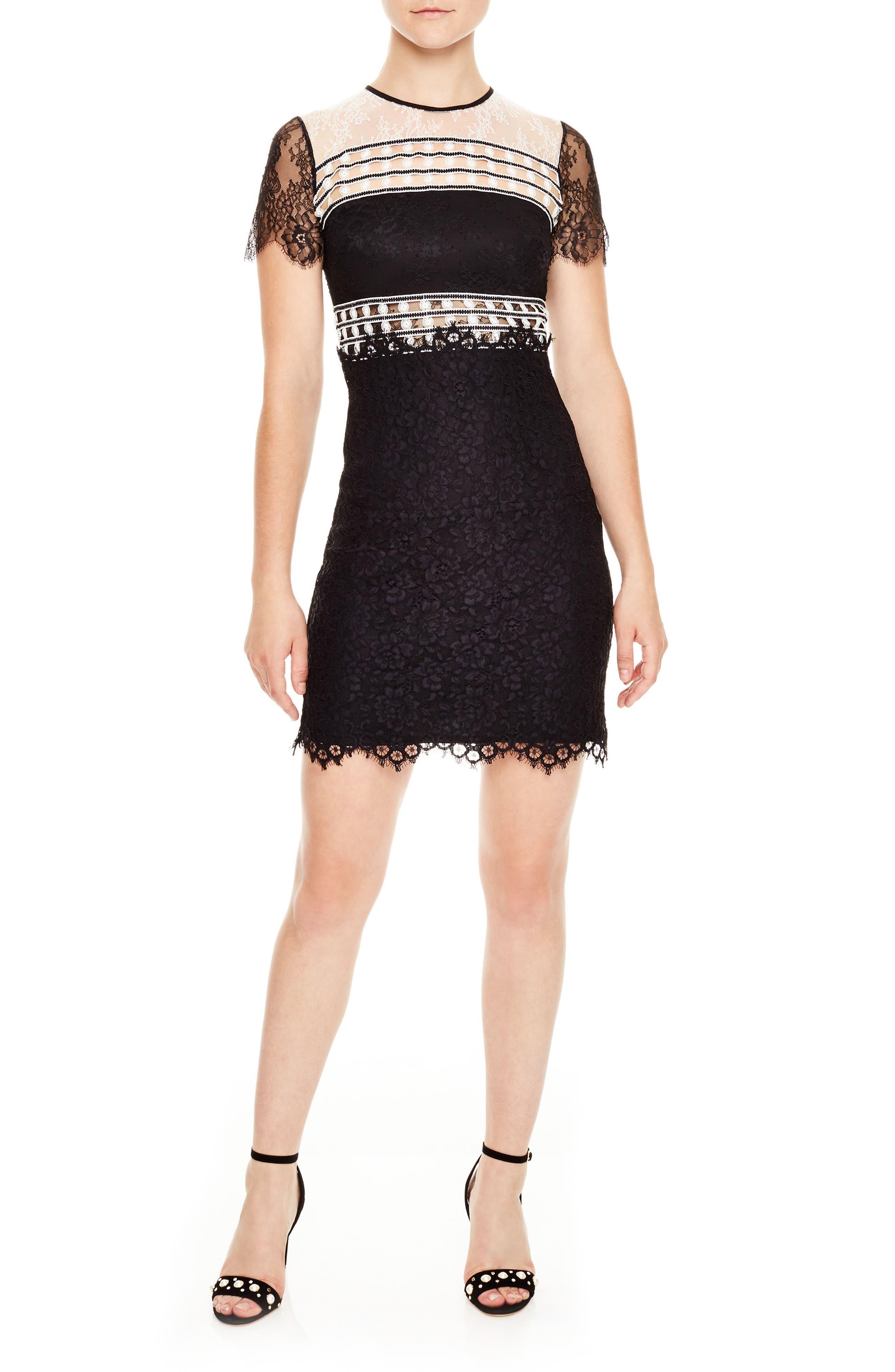 sandro Black & White Lace Dress