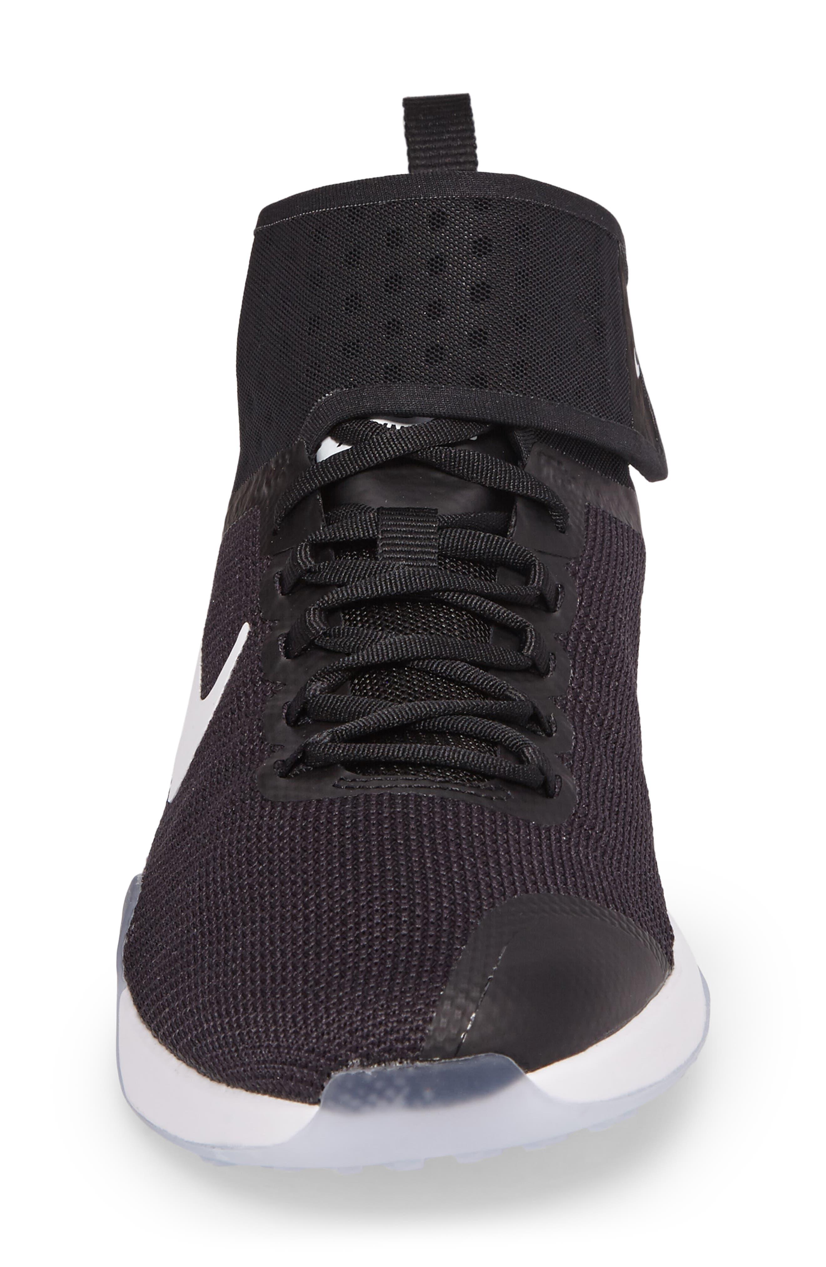 NikeLab Air Zoom Strong 2 Training Shoe,                             Alternate thumbnail 5, color,                             Black/ White