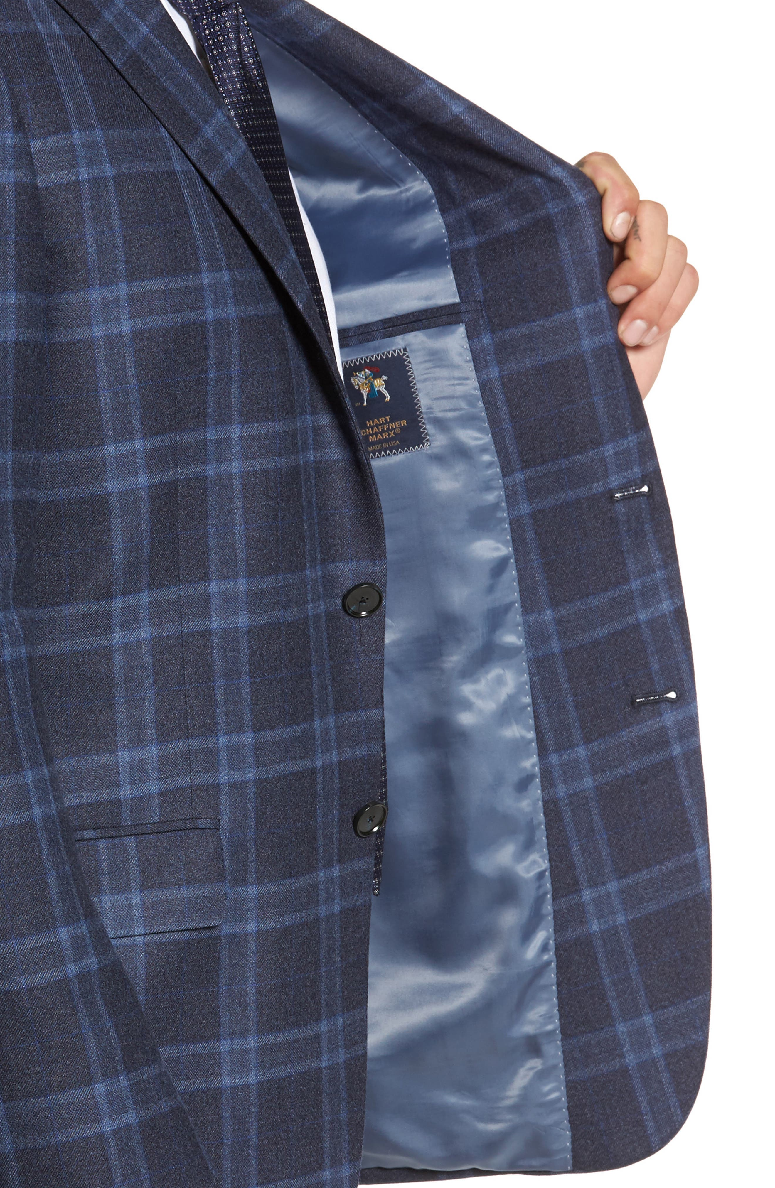Alternate Image 4  - Hart Schaffner Marx Classic Fit Plaid Wool Sport Coat