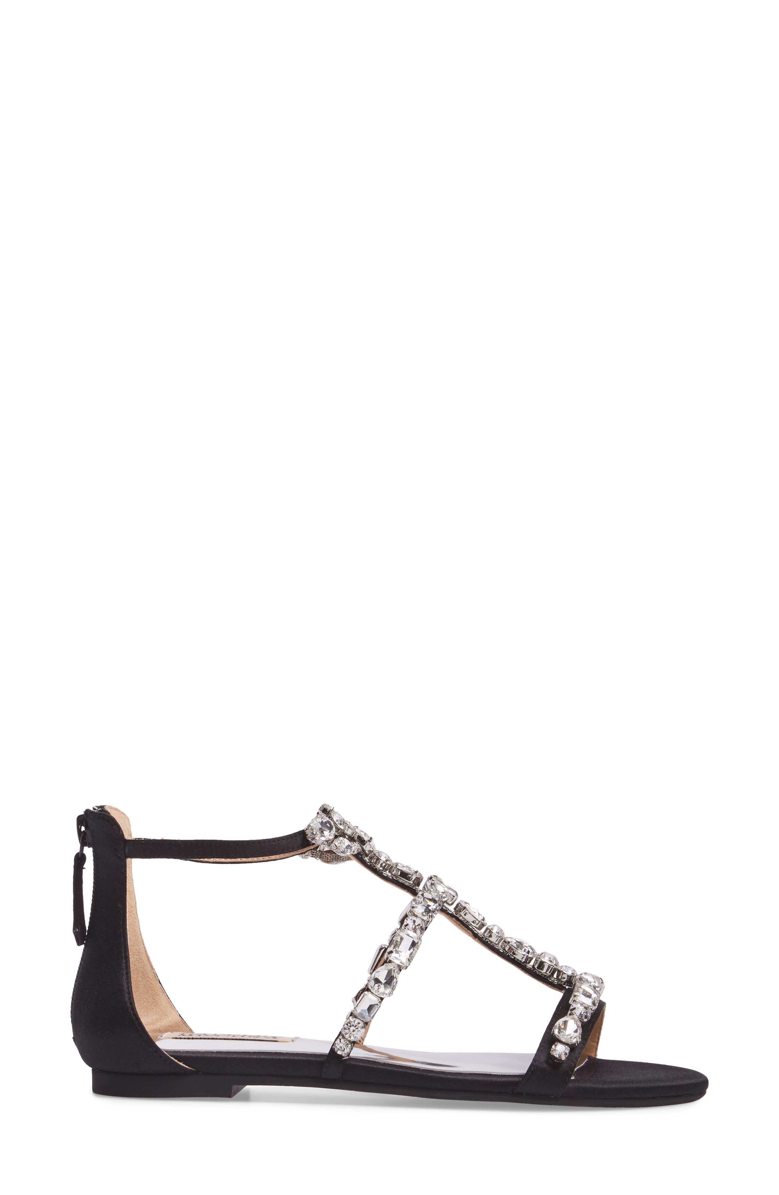 Alternate Image 3  - Badgley Mischka Warren Crystal Embellished Sandal (Women)