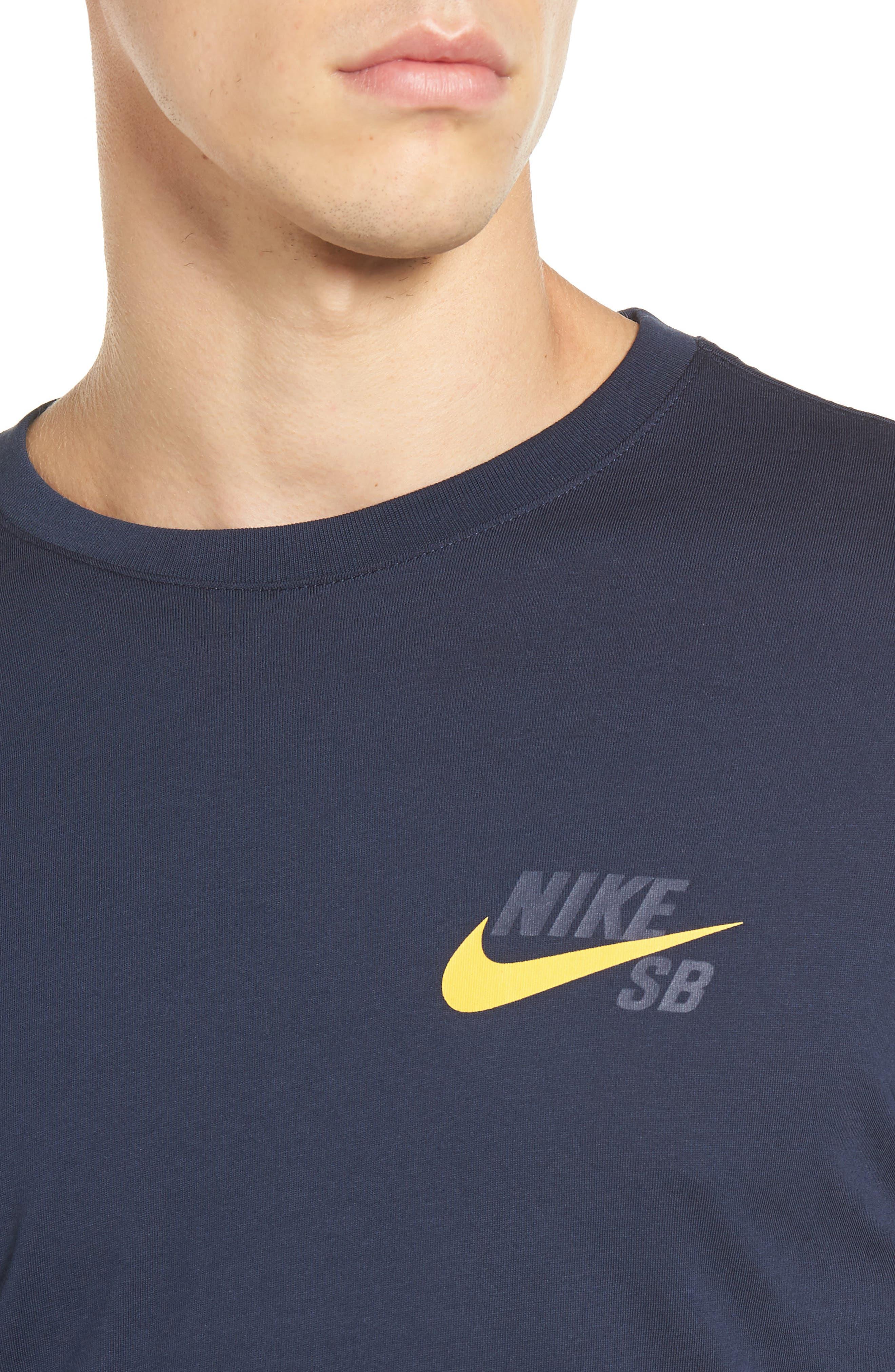 Logo T-Shirt,                             Alternate thumbnail 4, color,                             Obsidian/ Mineral Gold