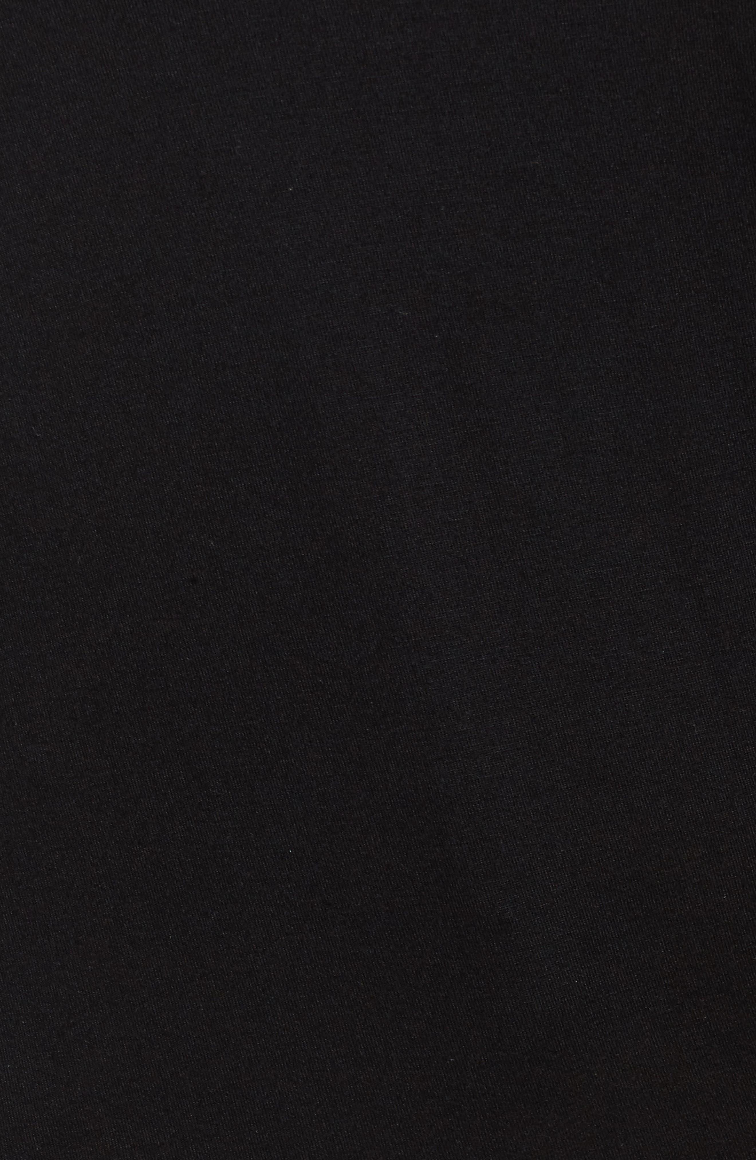 Layered Look Tie Hem Top,                             Alternate thumbnail 5, color,                             Black-Ivory