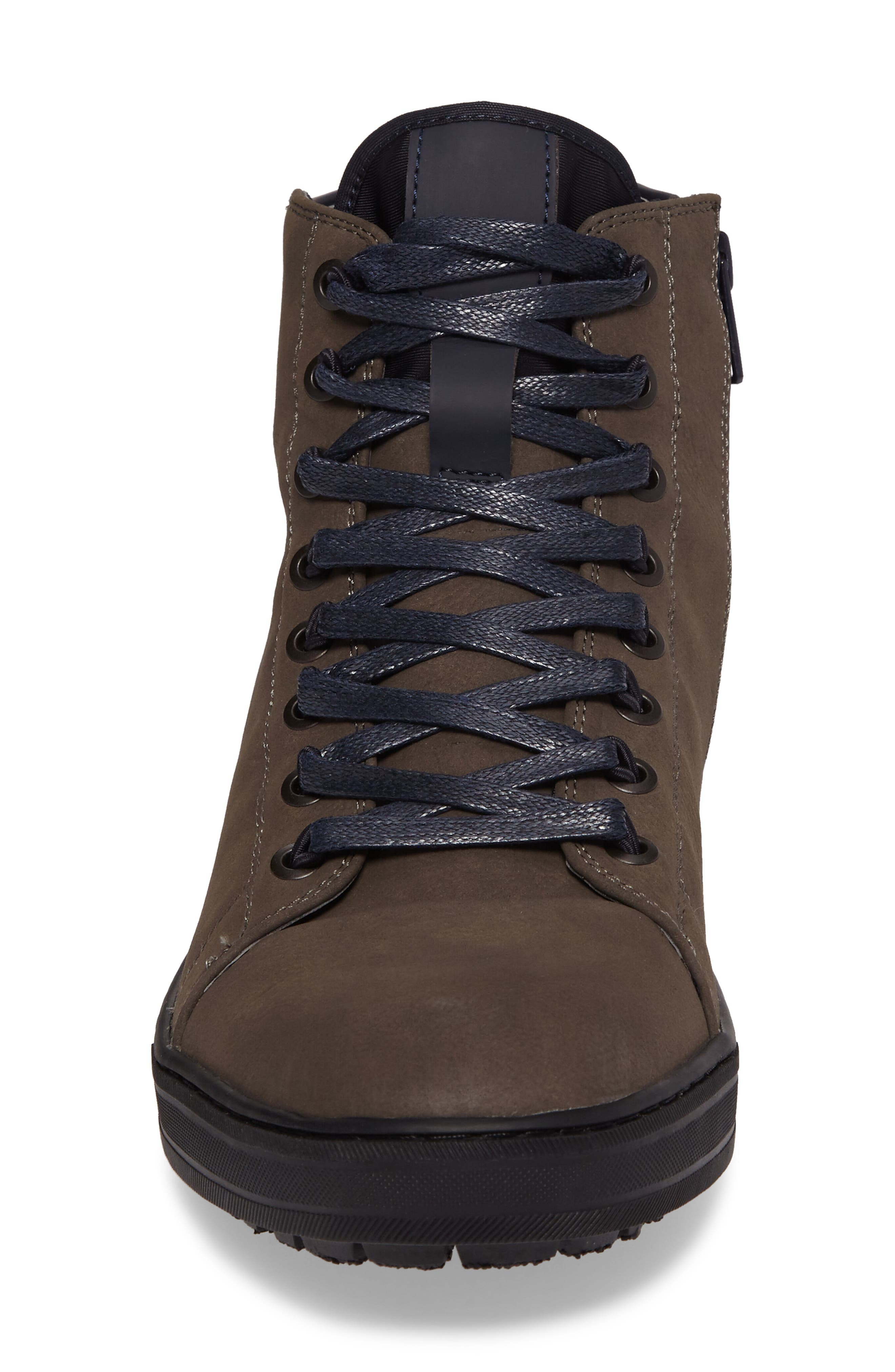 Kenneth Cole Reaction High-Top Sneaker,                             Alternate thumbnail 4, color,                             Dark Taupe