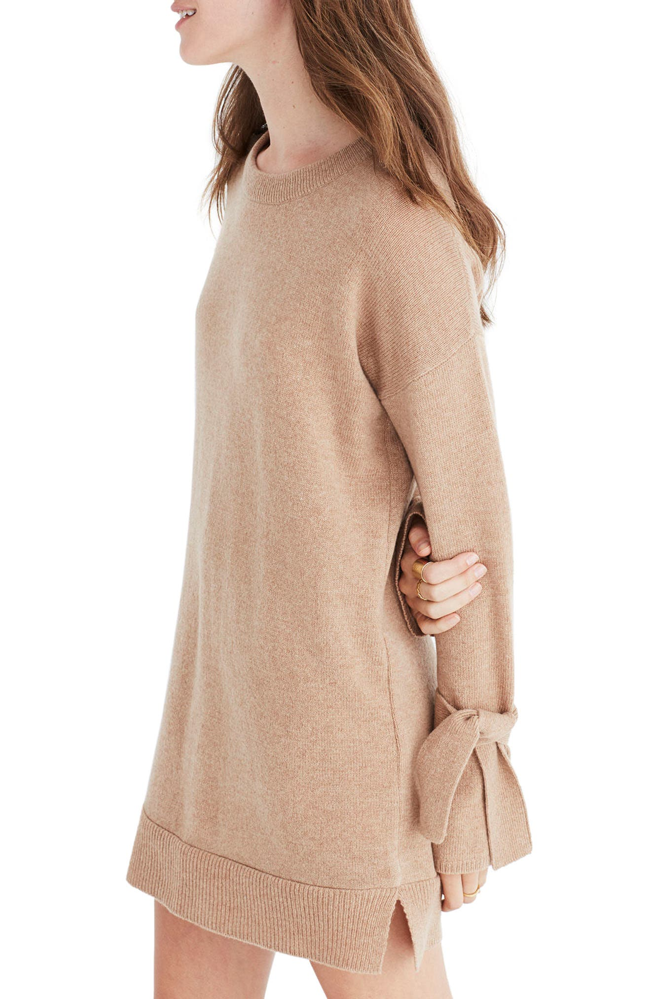 Main Image - Madewell Tie Cuff Sweater Dress