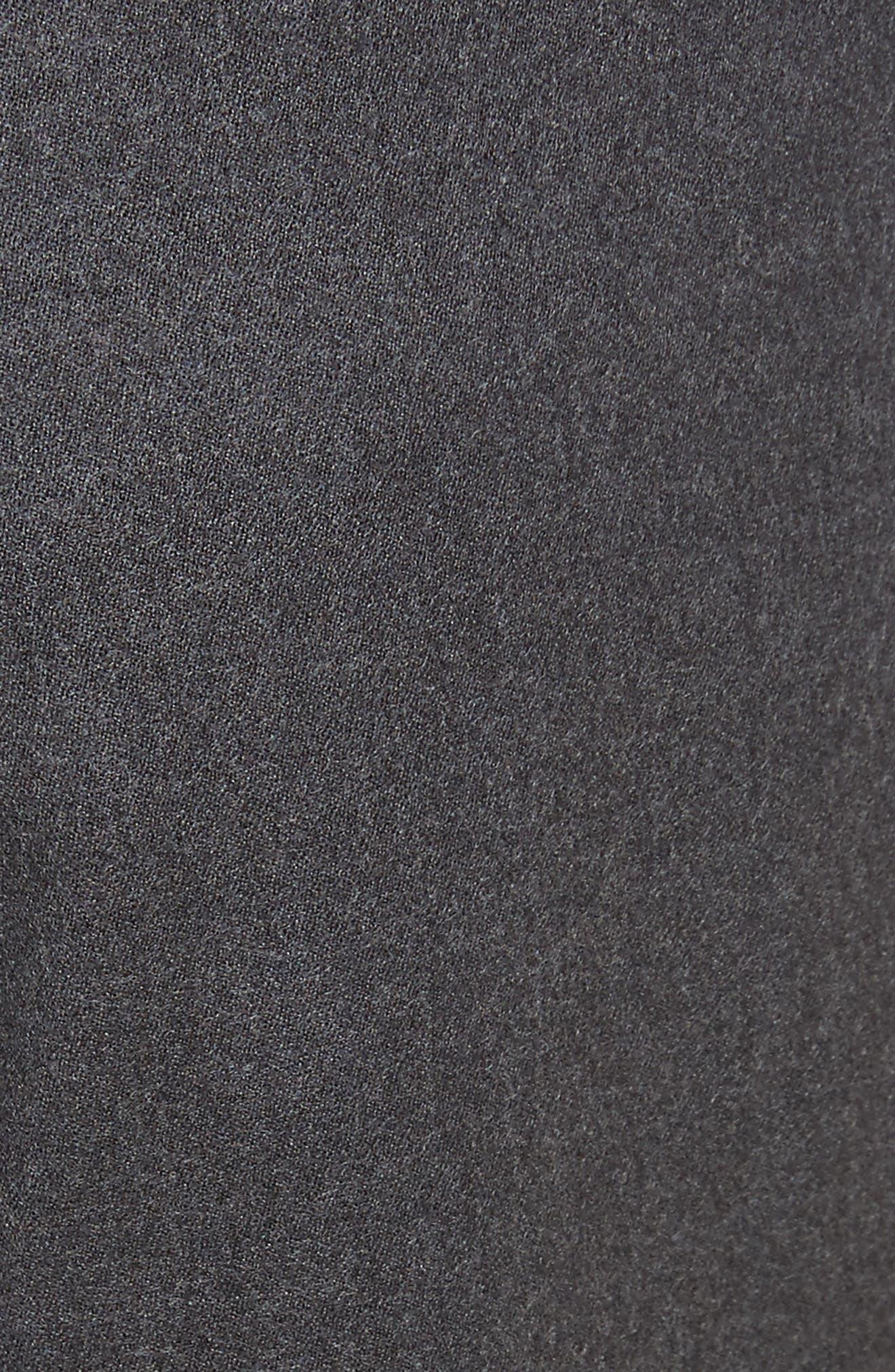 Regular Fit Wool Cargo Trousers,                             Alternate thumbnail 5, color,                             Dark Grey Solid