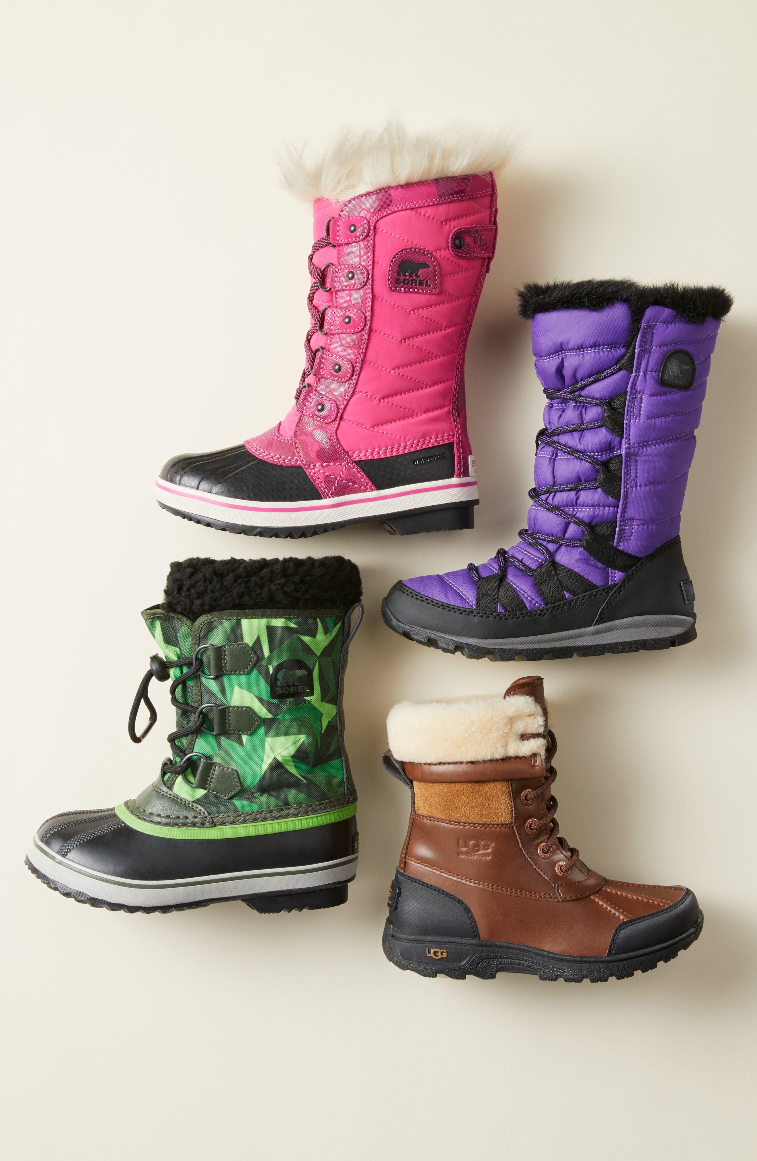 Alternate Image 6  - UGG® 'Butte II' Waterproof Leather Boot (Little Kid & Big Kid)