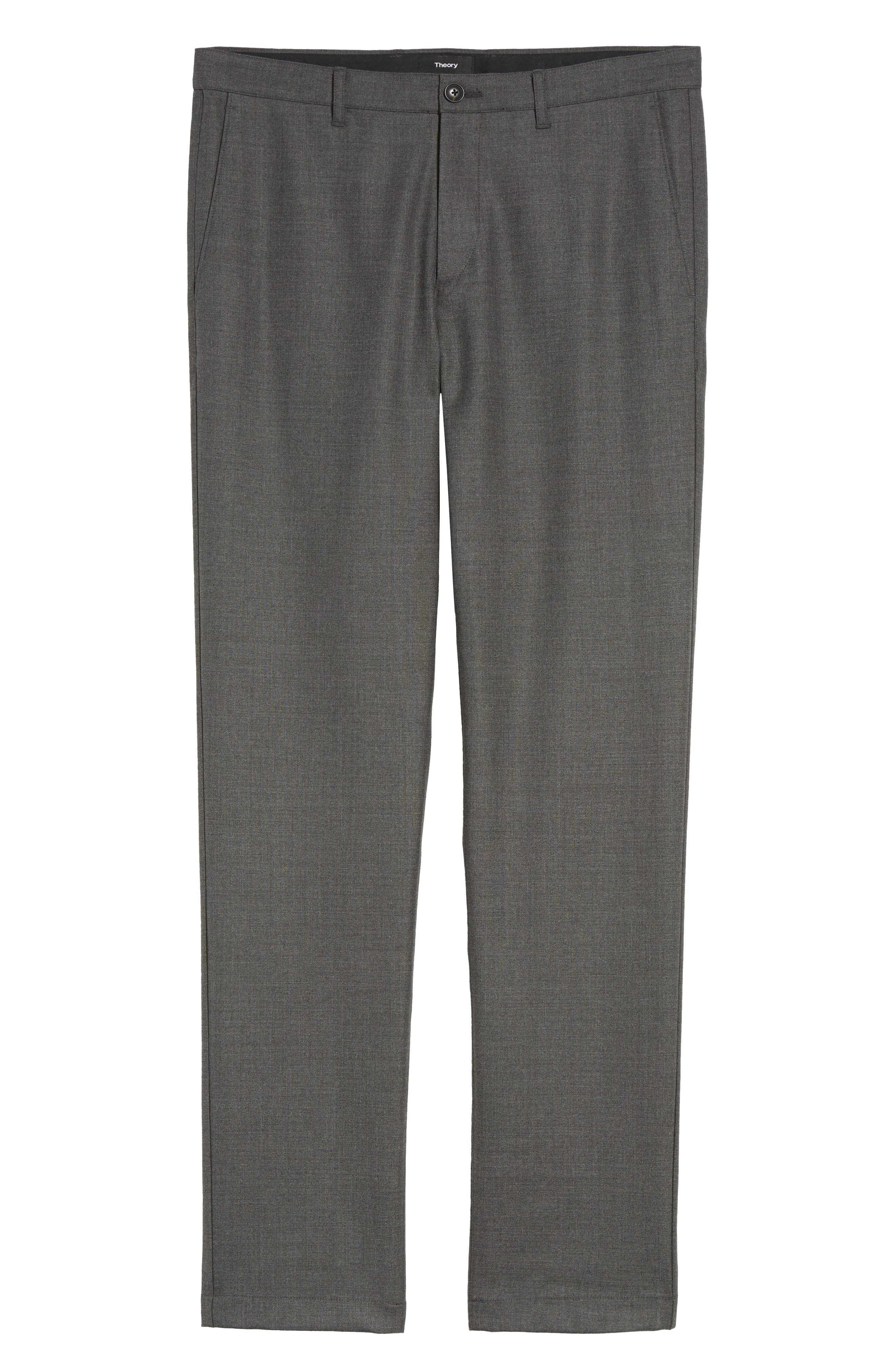 Zaine Gearheart Slim Straight Pants,                             Alternate thumbnail 6, color,                             Medium Charcoal