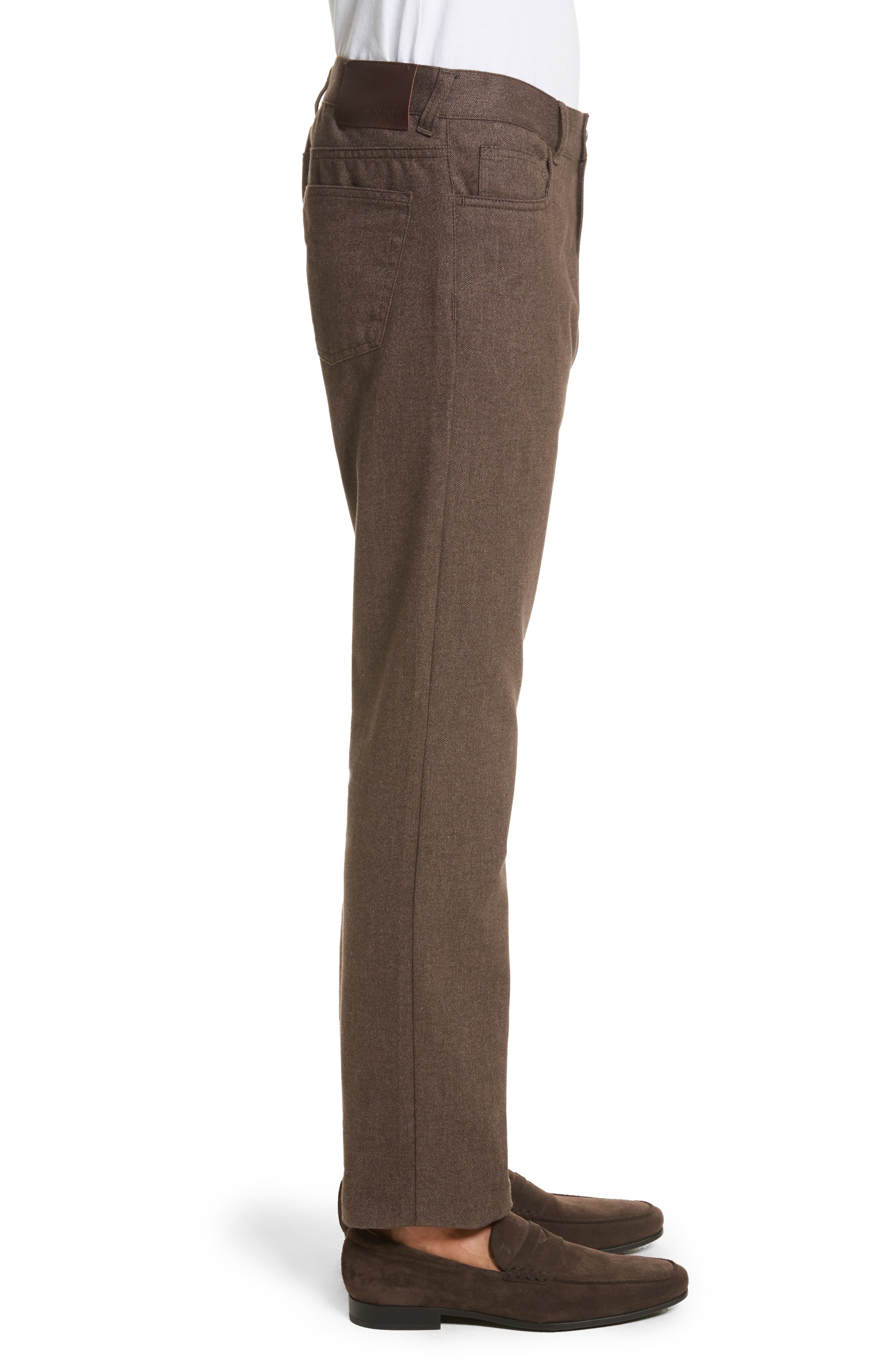Alternate Image 3  - Canali Regular Fit Herringbone 5-Pocket Pants