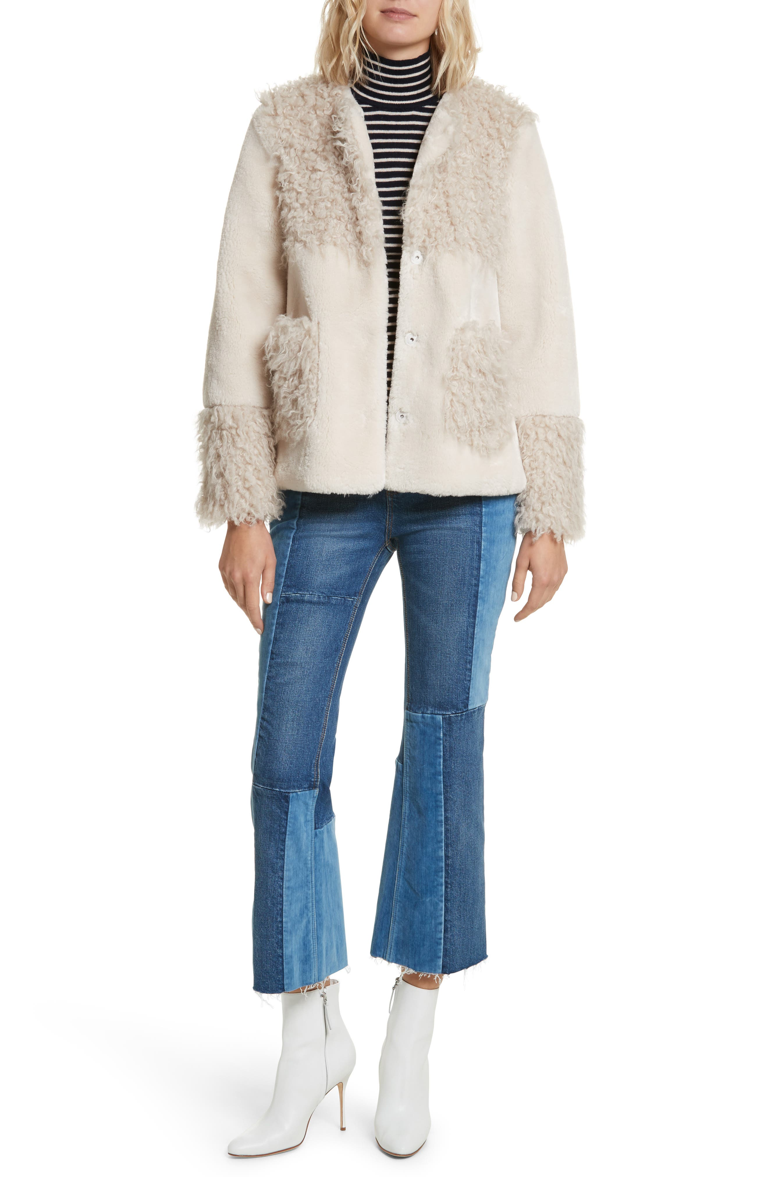 Alternate Image 2  - La Vie Rebecca Taylor Mixed Faux Fur Coat