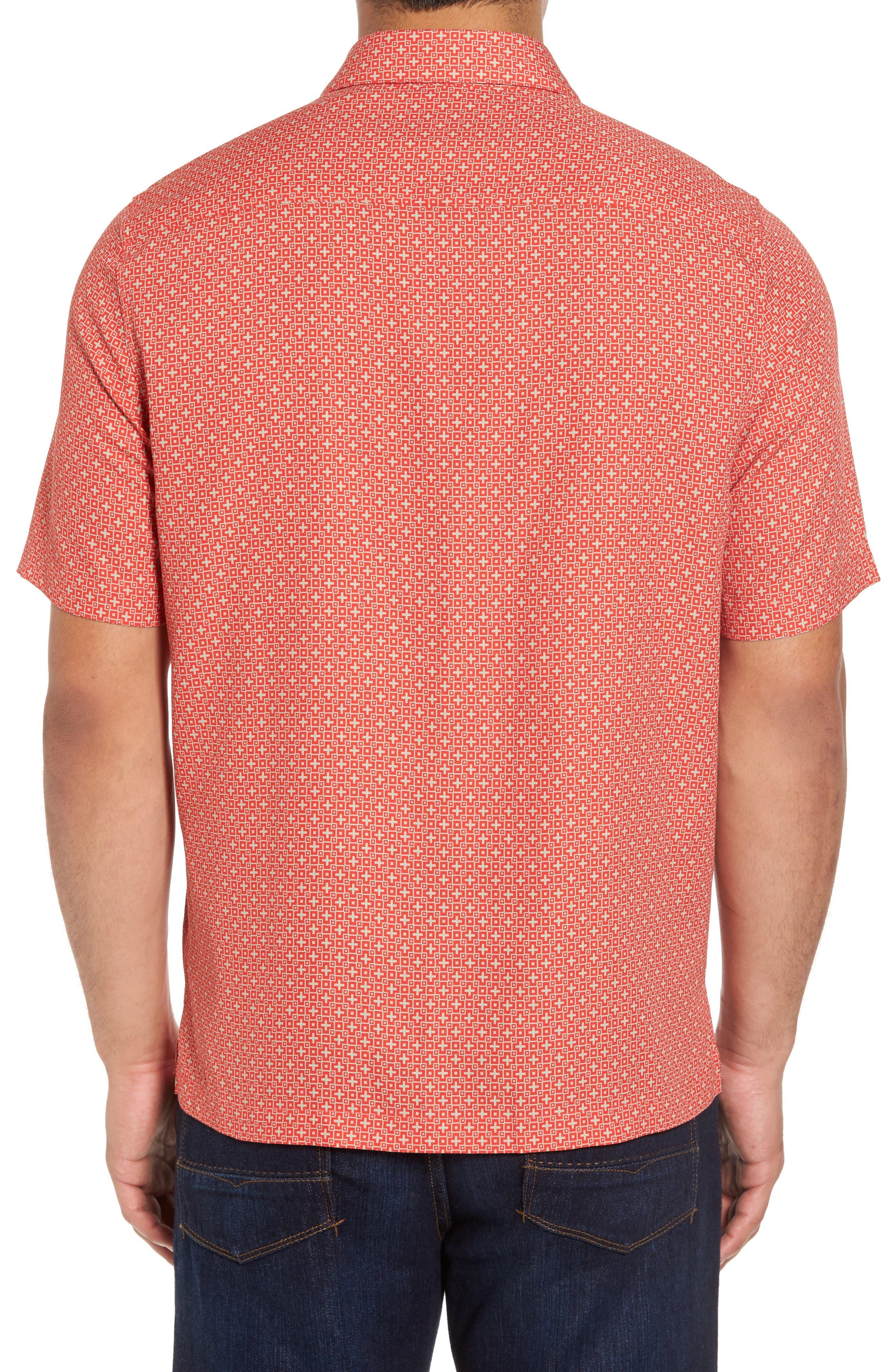 Alternate Image 2  - Nat Nast Everest Print Silk Blend Sport Shirt