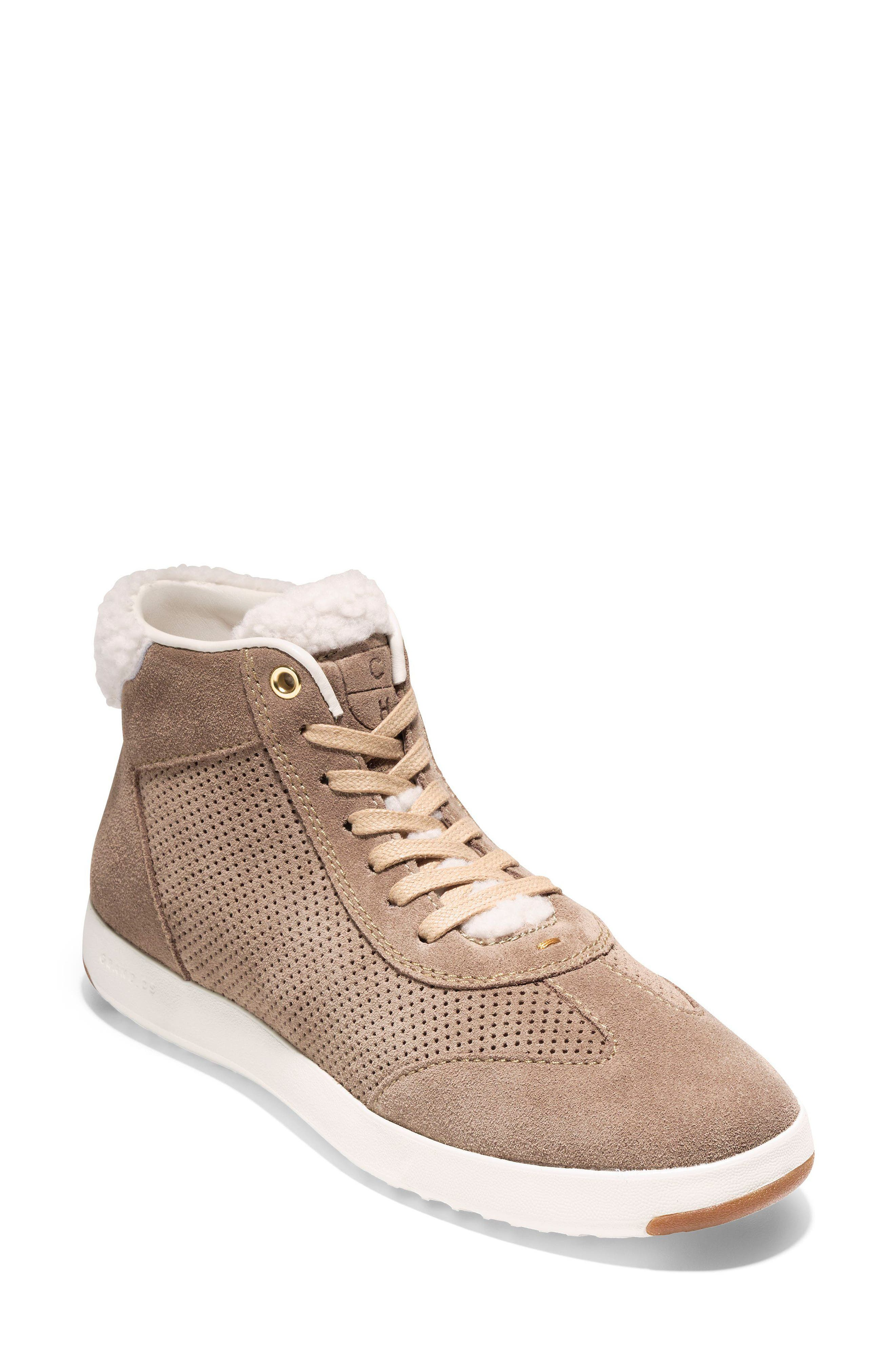 GrandPro High Top Sneaker,                             Main thumbnail 1, color,                             Warm Sand Suede
