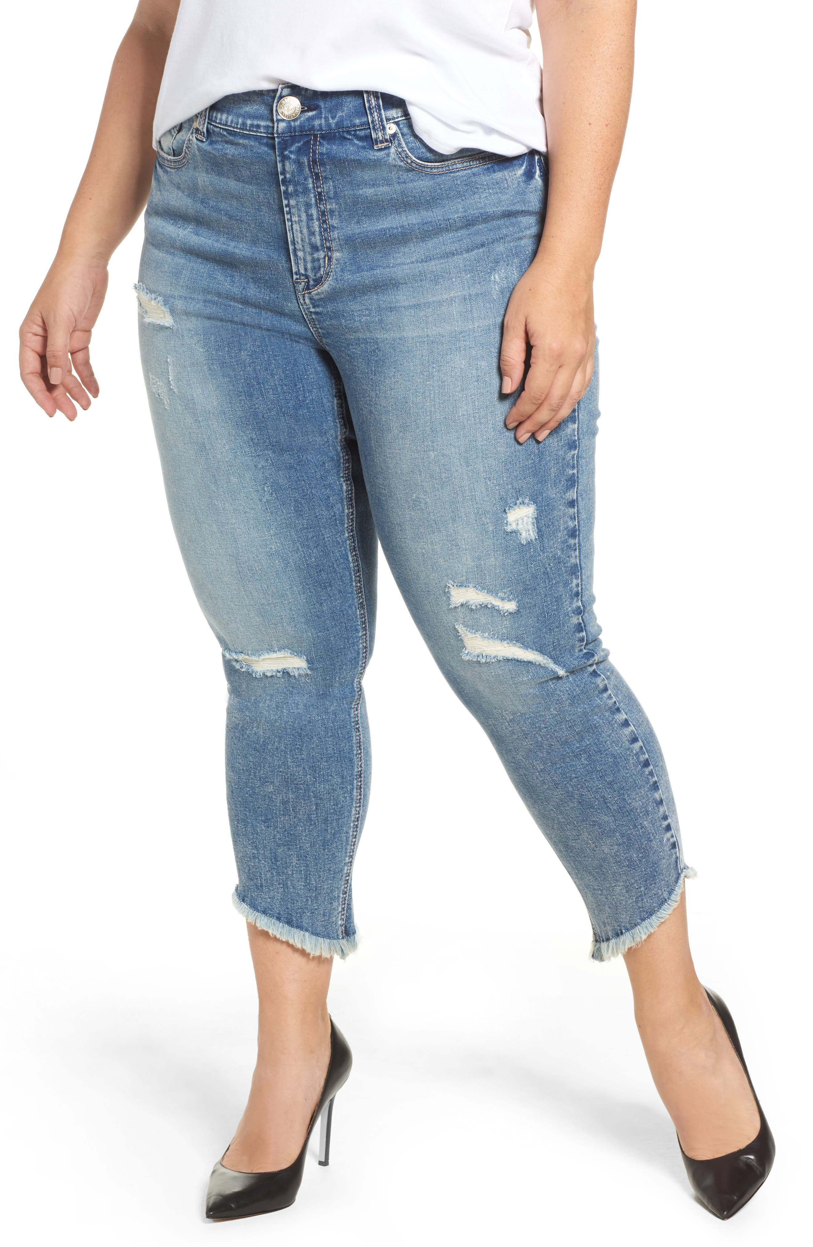 Frayed Hem Skinny Jeans,                         Main,                         color, Sydney