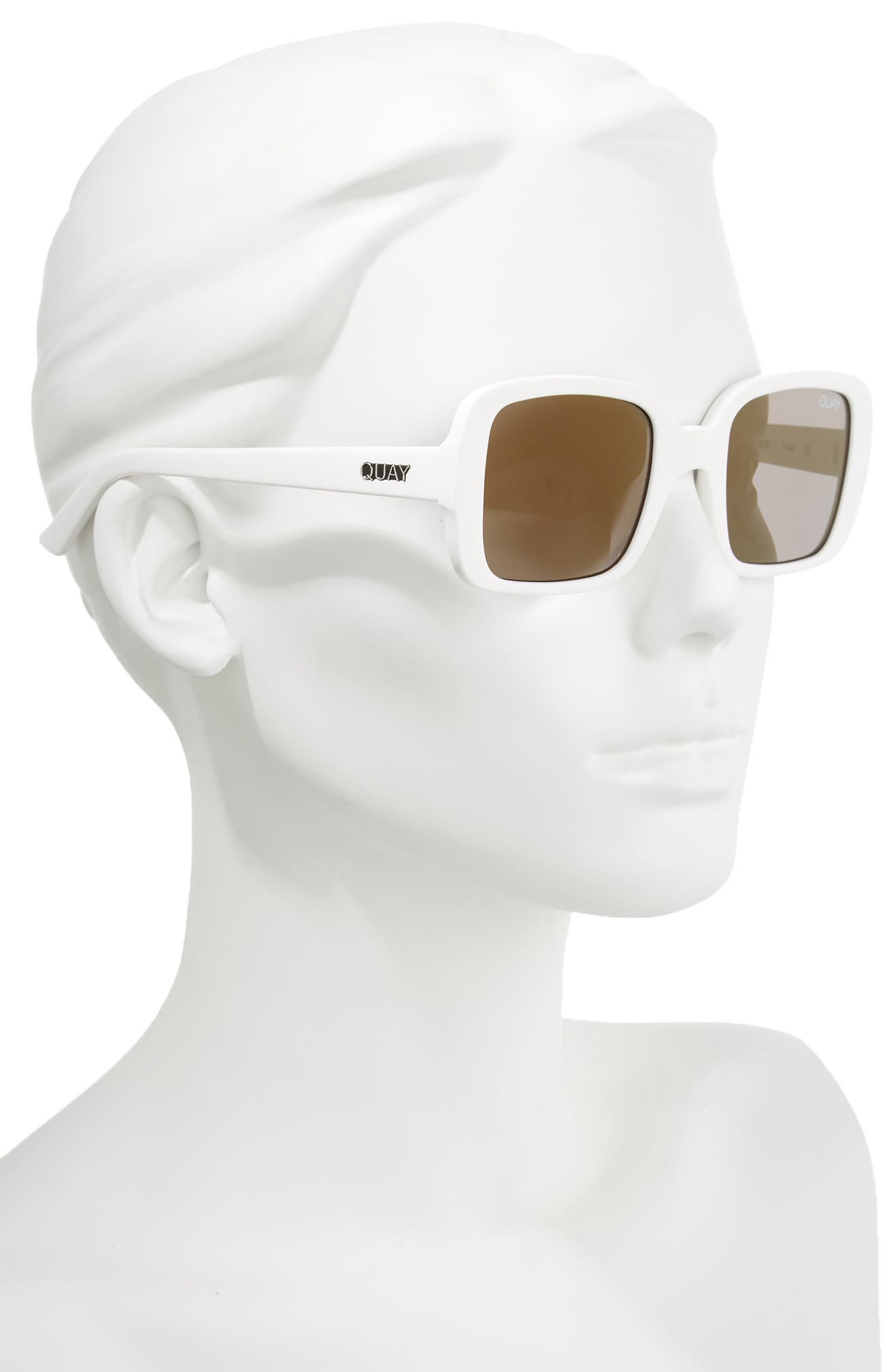 Alternate Image 3  - #QUAYxKYLIE '20s 54mm Square Sunglasses