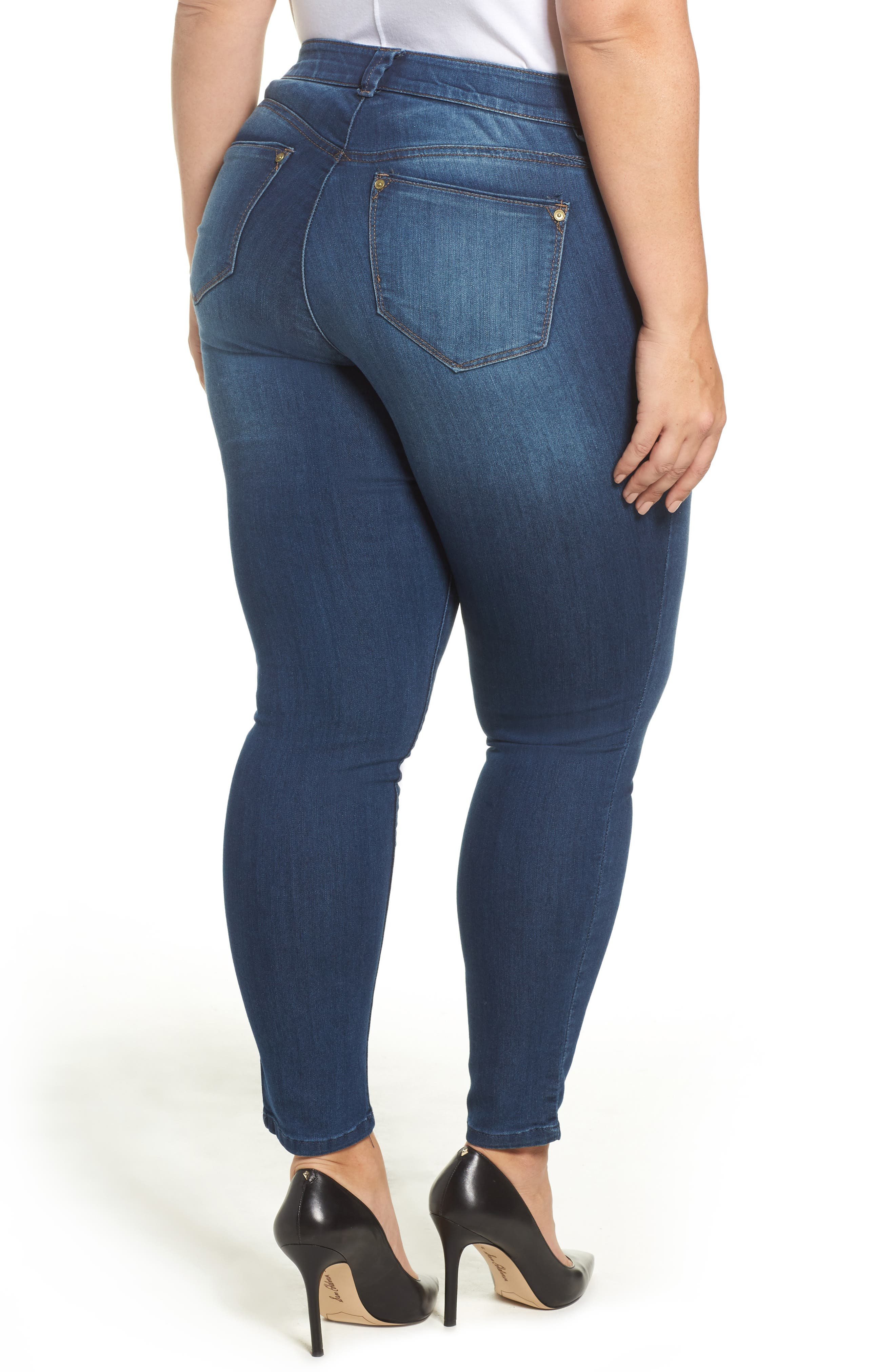 Alternate Image 2  - Wit & Wisdom Ab-solution Skinny Jeans (Plus Size) (Nordstrom Exclusive)