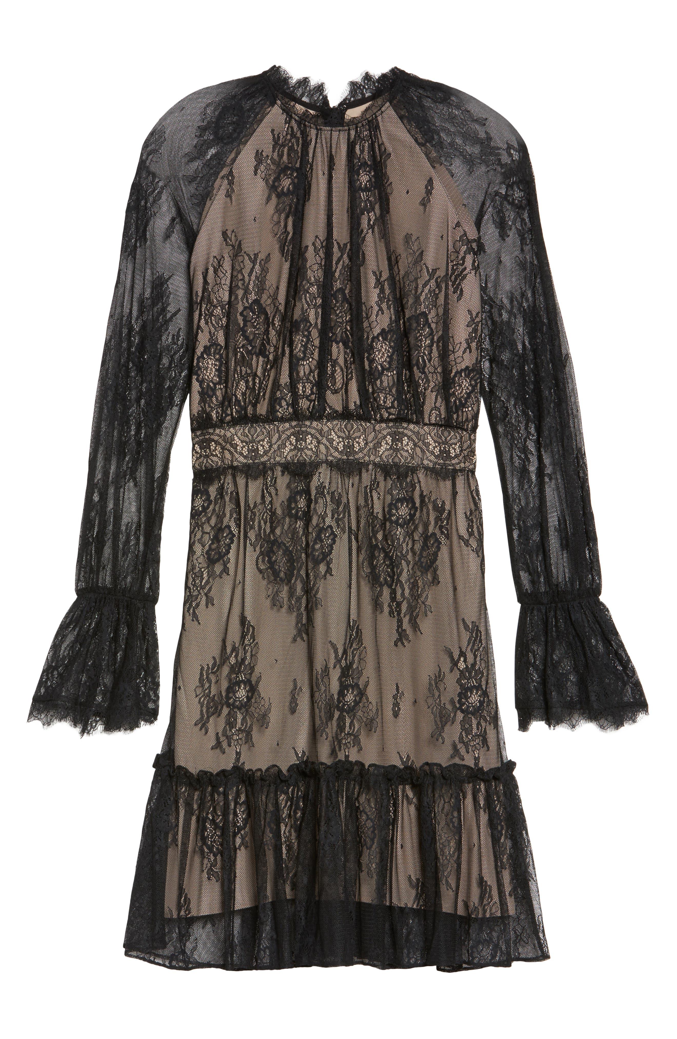 Alternate Image 6  - Shoshanna Floral Medallion Lace Fit & Flare Dress