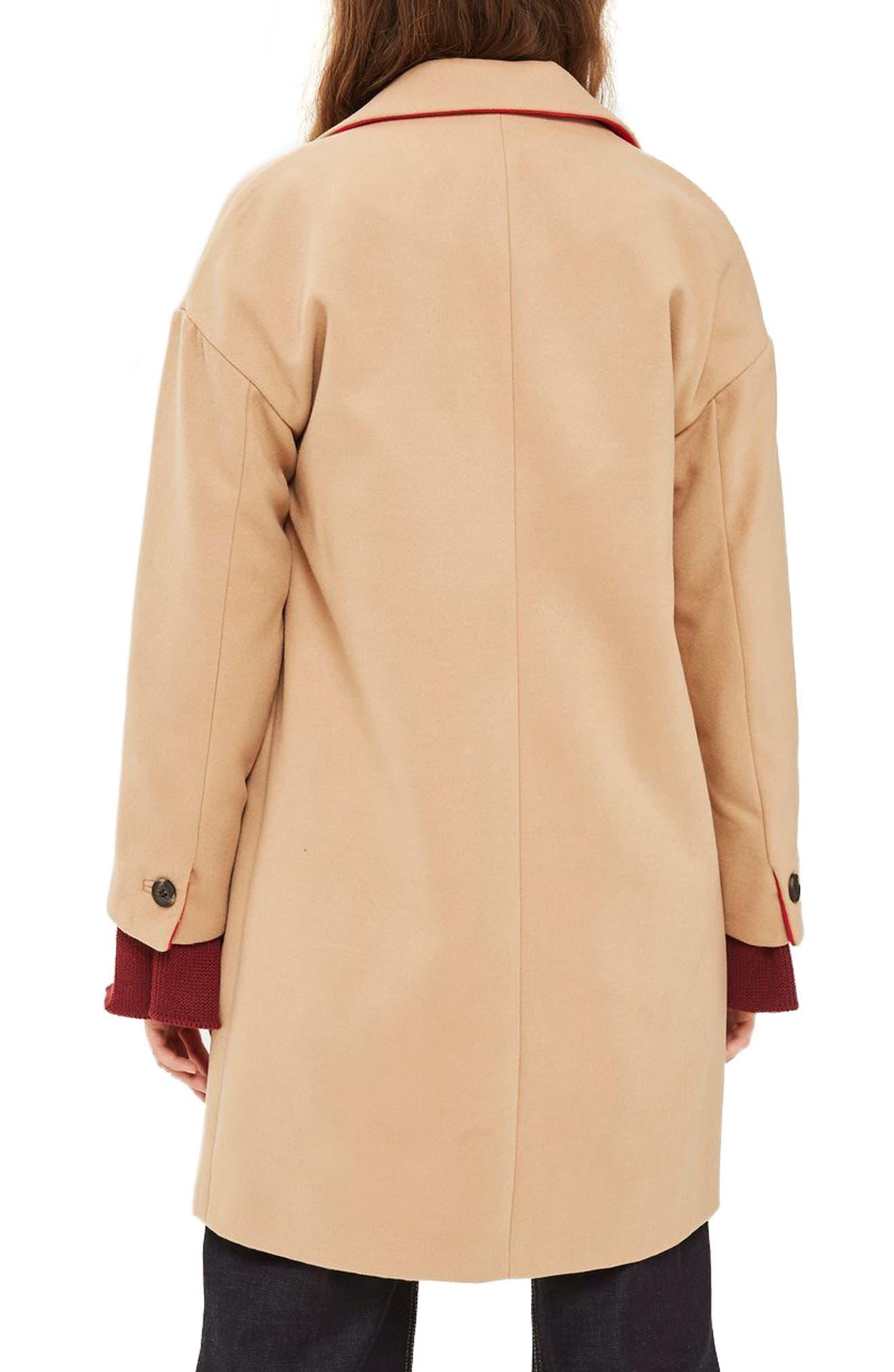 Millie Relaxed Coat,                             Alternate thumbnail 2, color,                             Camel