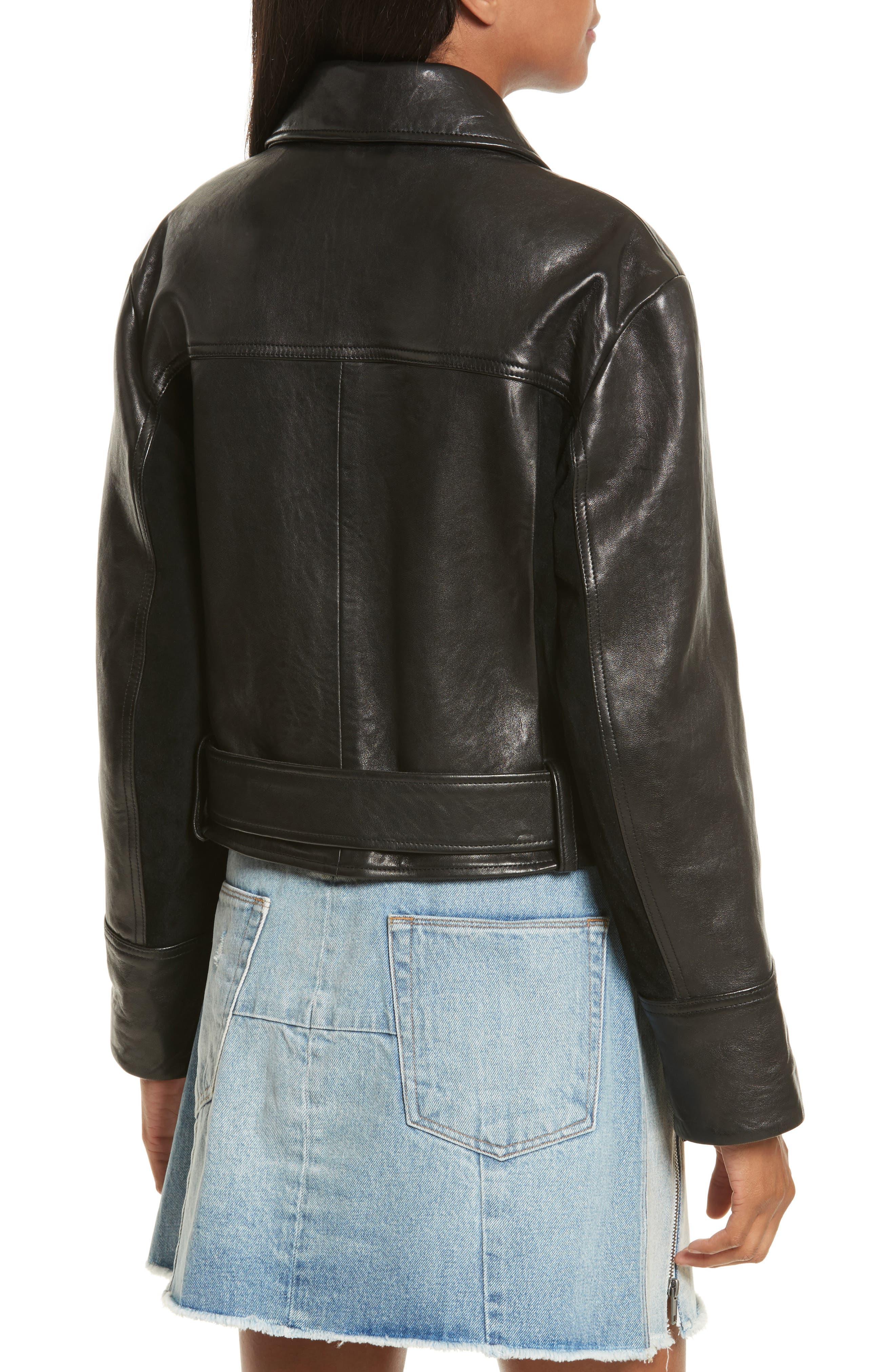 Alternate Image 2  - FRAME Paneled Leather & Suede Jacket