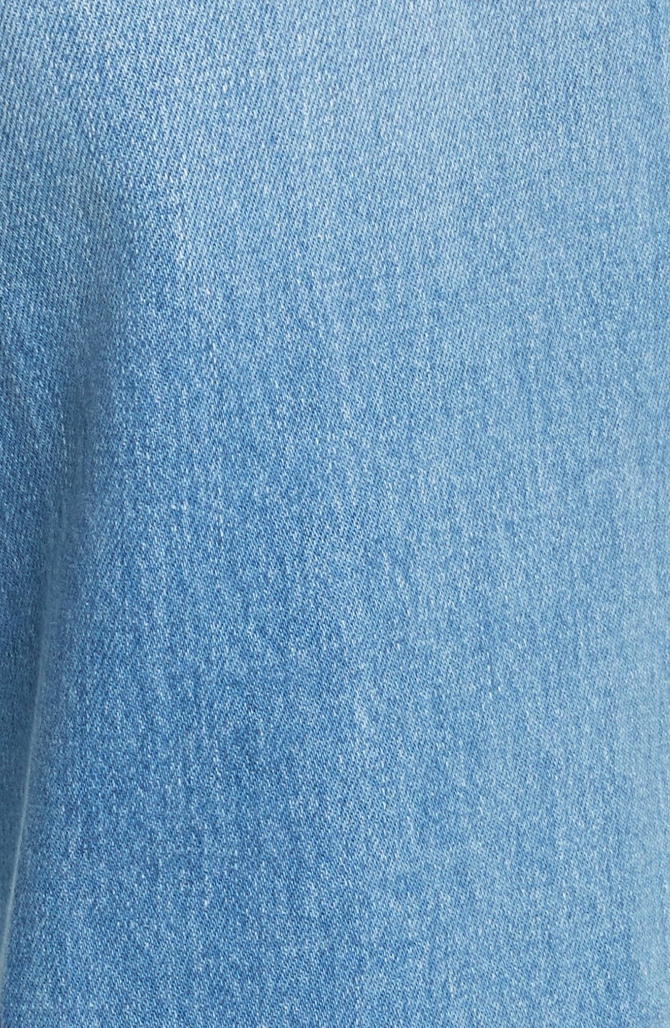 Le Palazzo High Waist Raw Edge Jeans,                             Alternate thumbnail 6, color,                             Opus