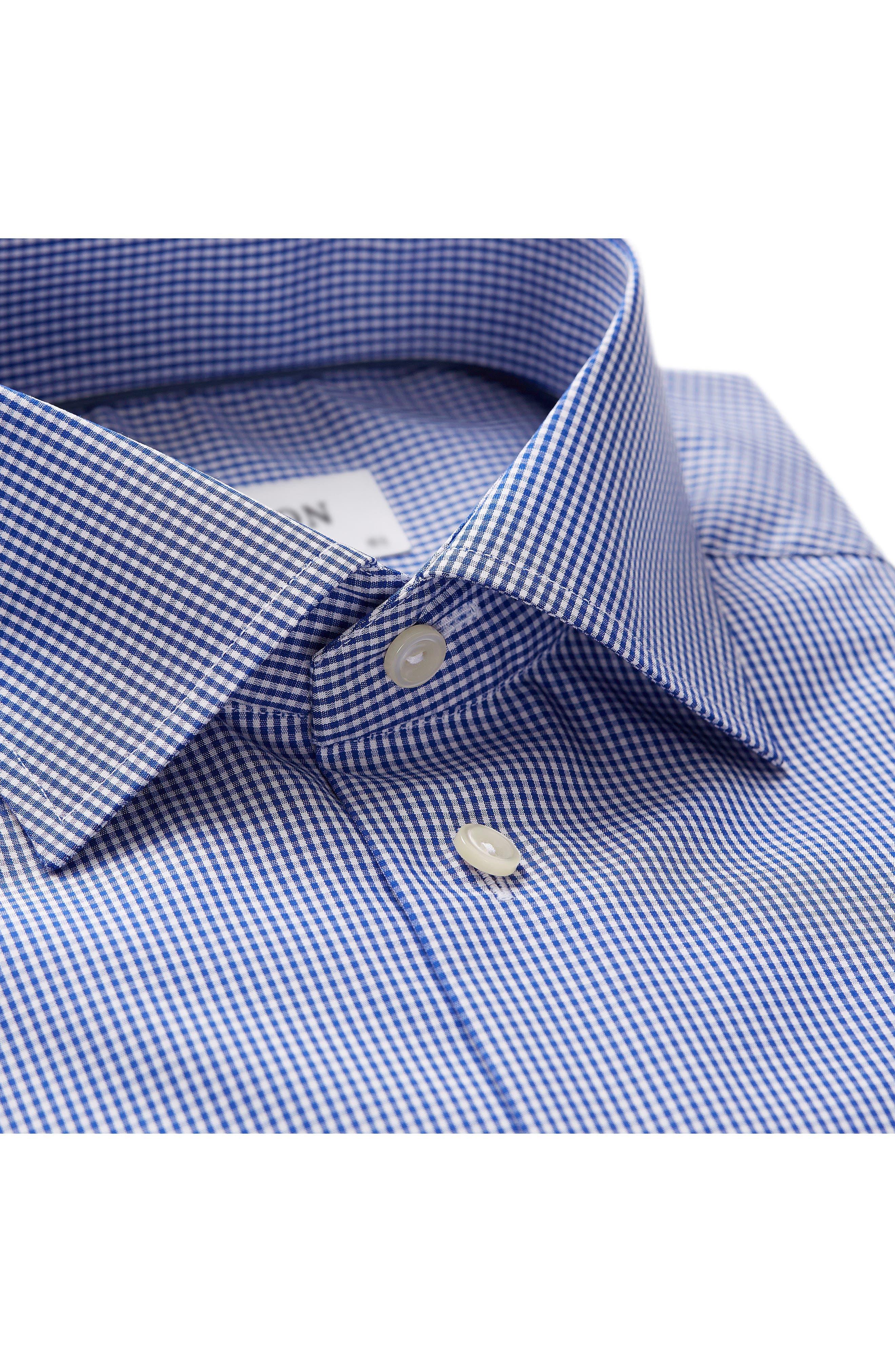 Contemporary Fit Check Dress Shirt,                             Alternate thumbnail 2, color,                             Mid Blue