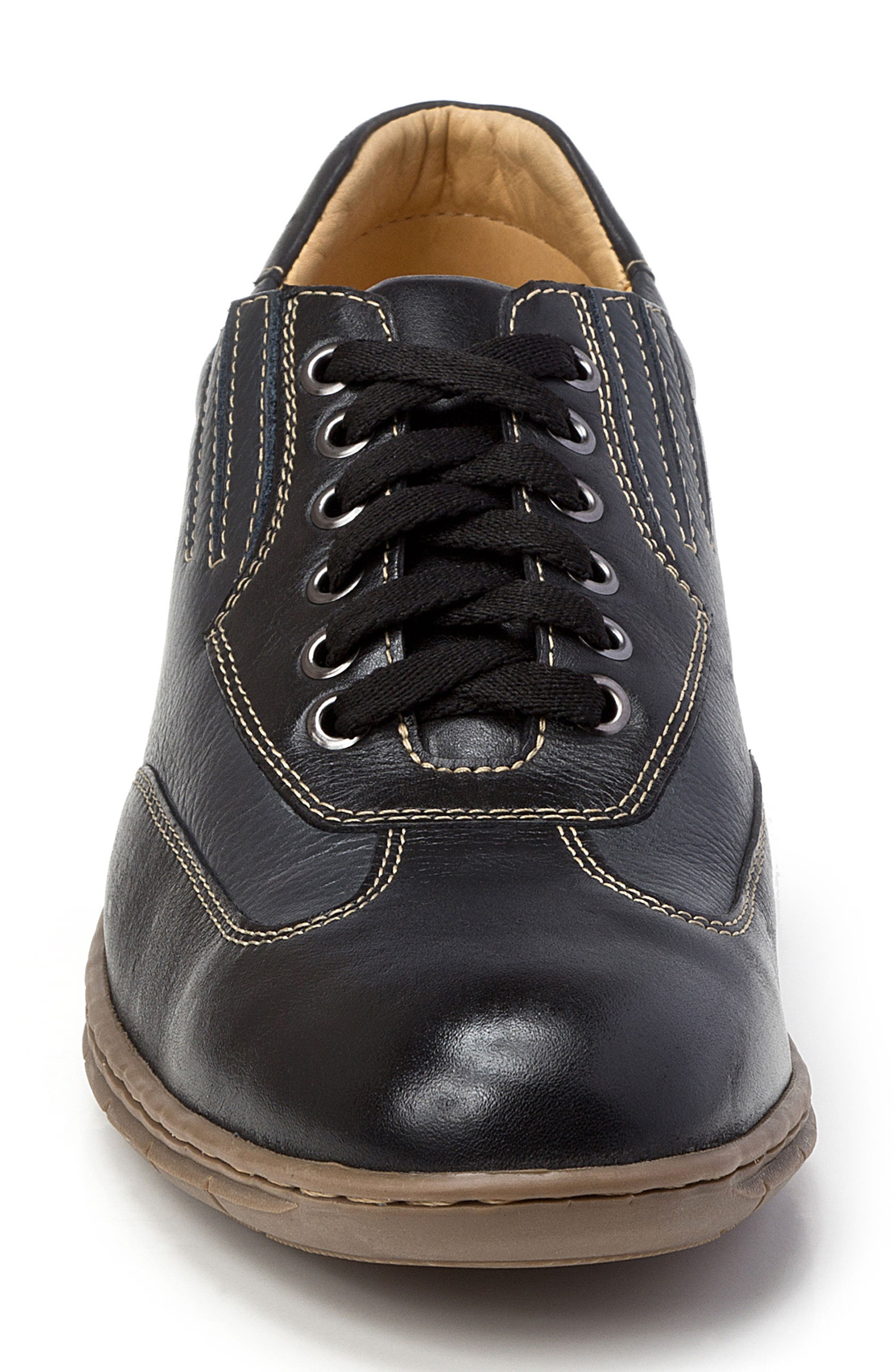 Vernon Sneaker,                             Alternate thumbnail 4, color,                             Black Leather