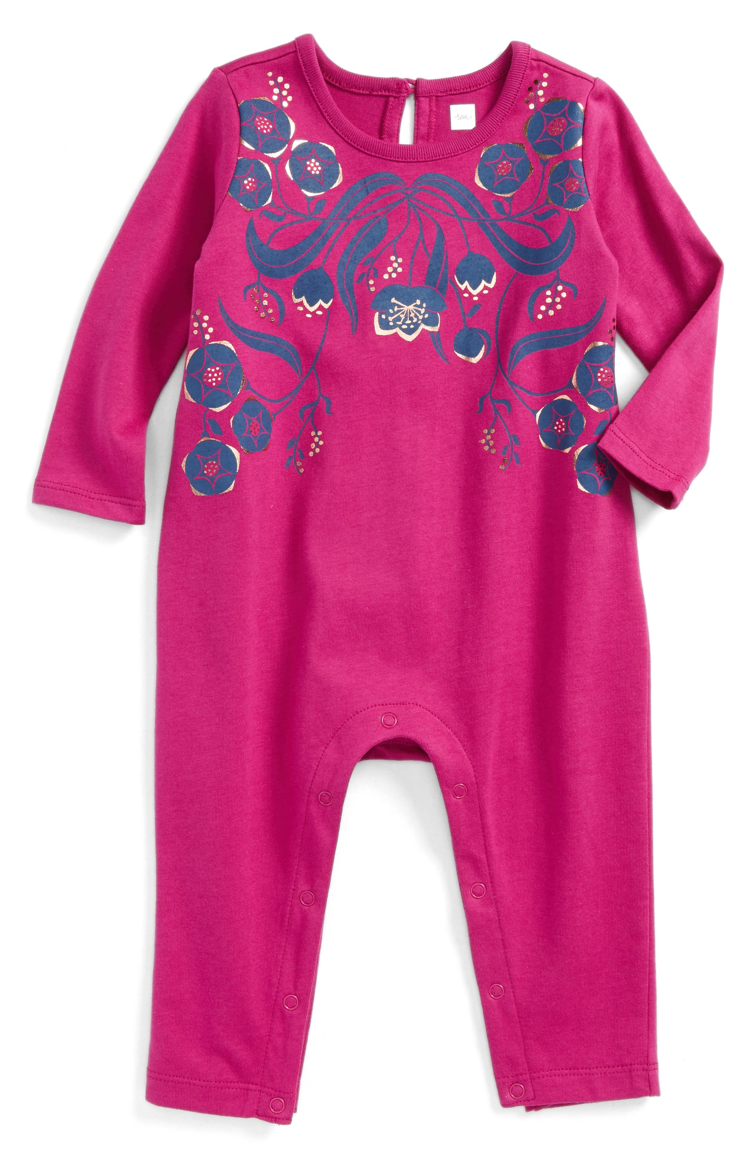 Main Image - Tea Collection Rosewell Romper (Baby Girls)