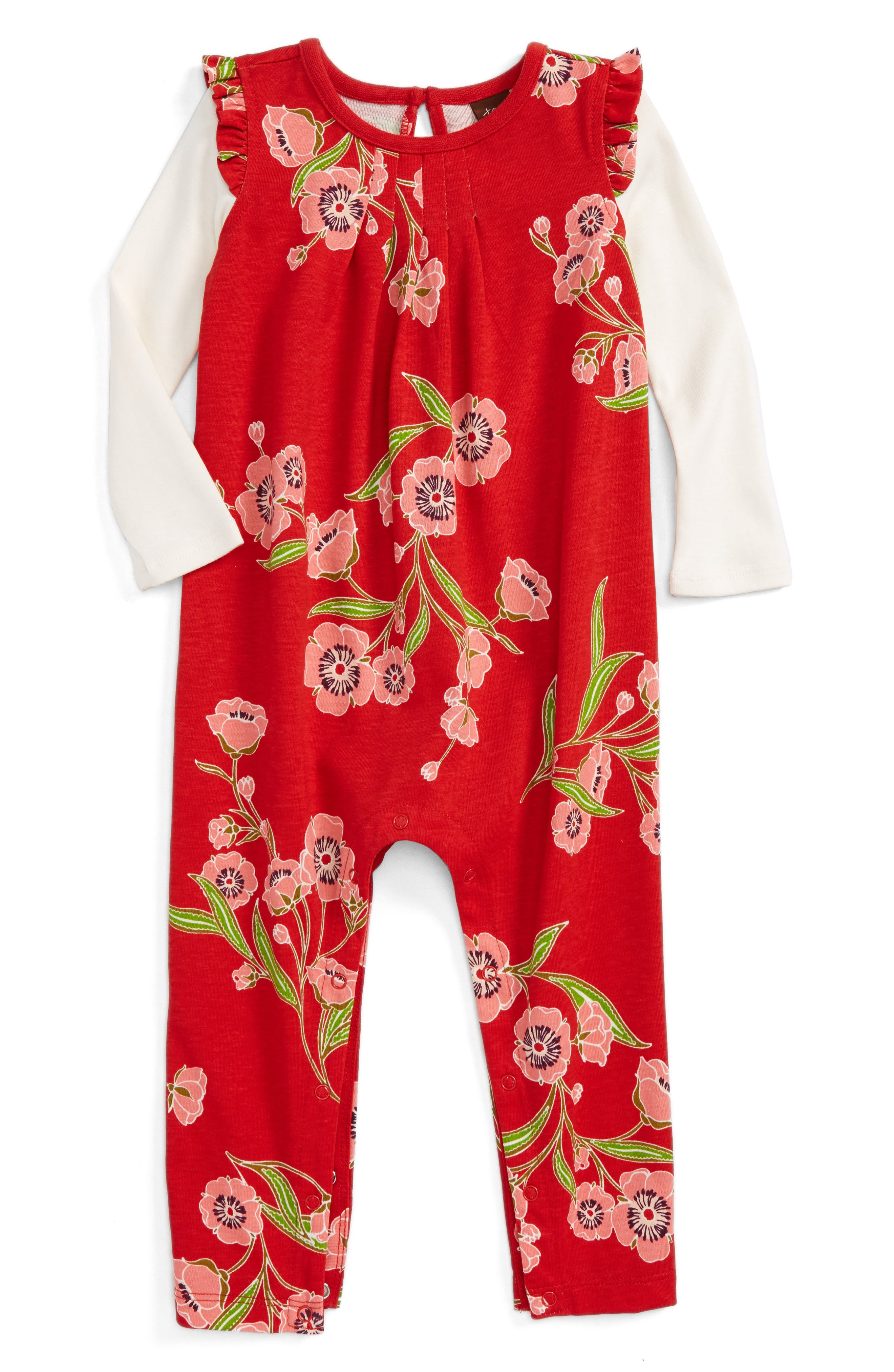Main Image - Tea Collection Rowan Romper (Baby Girls)