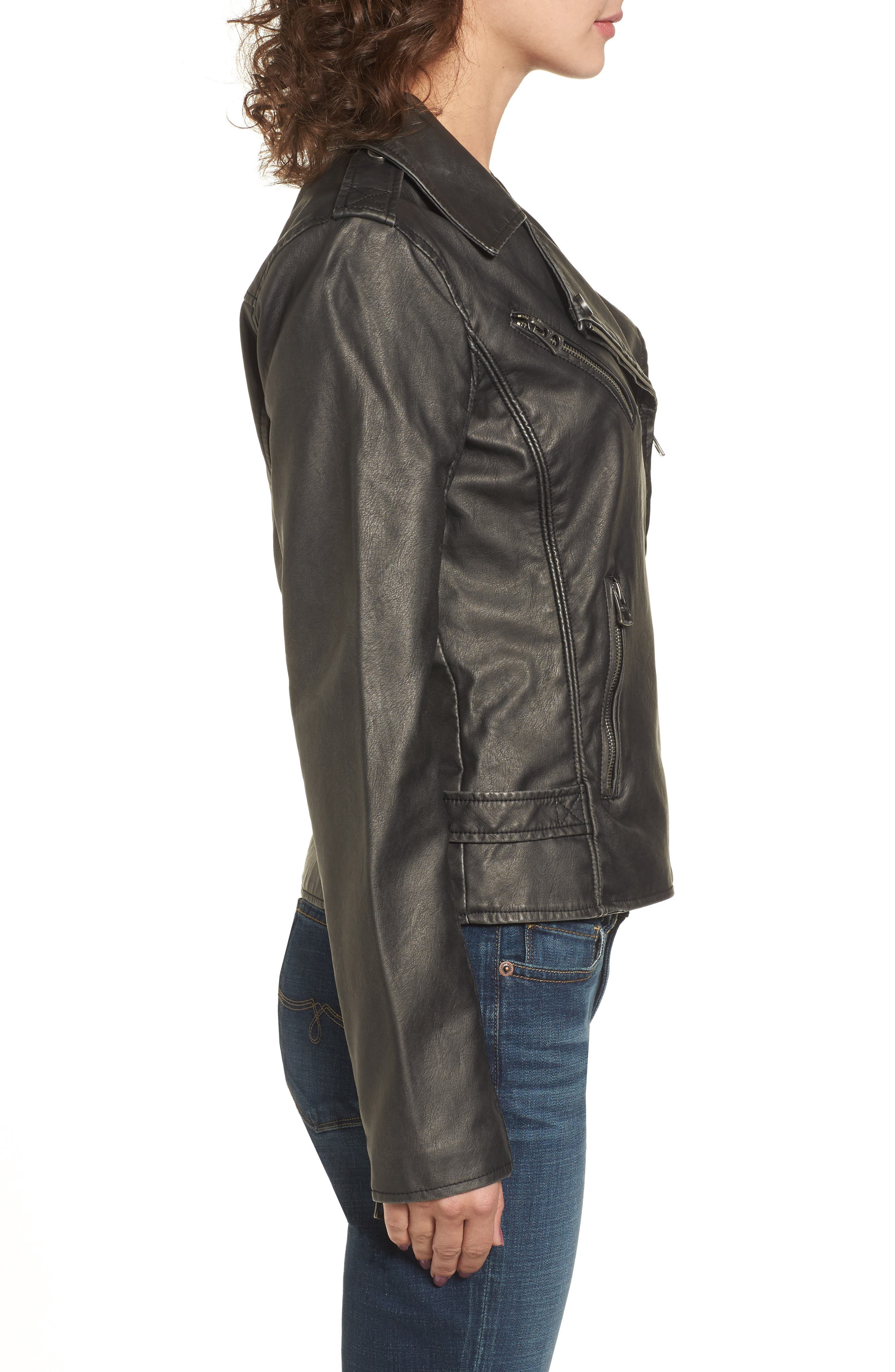 Alternate Image 3  - Lucky Brand Faux Leather Jacket