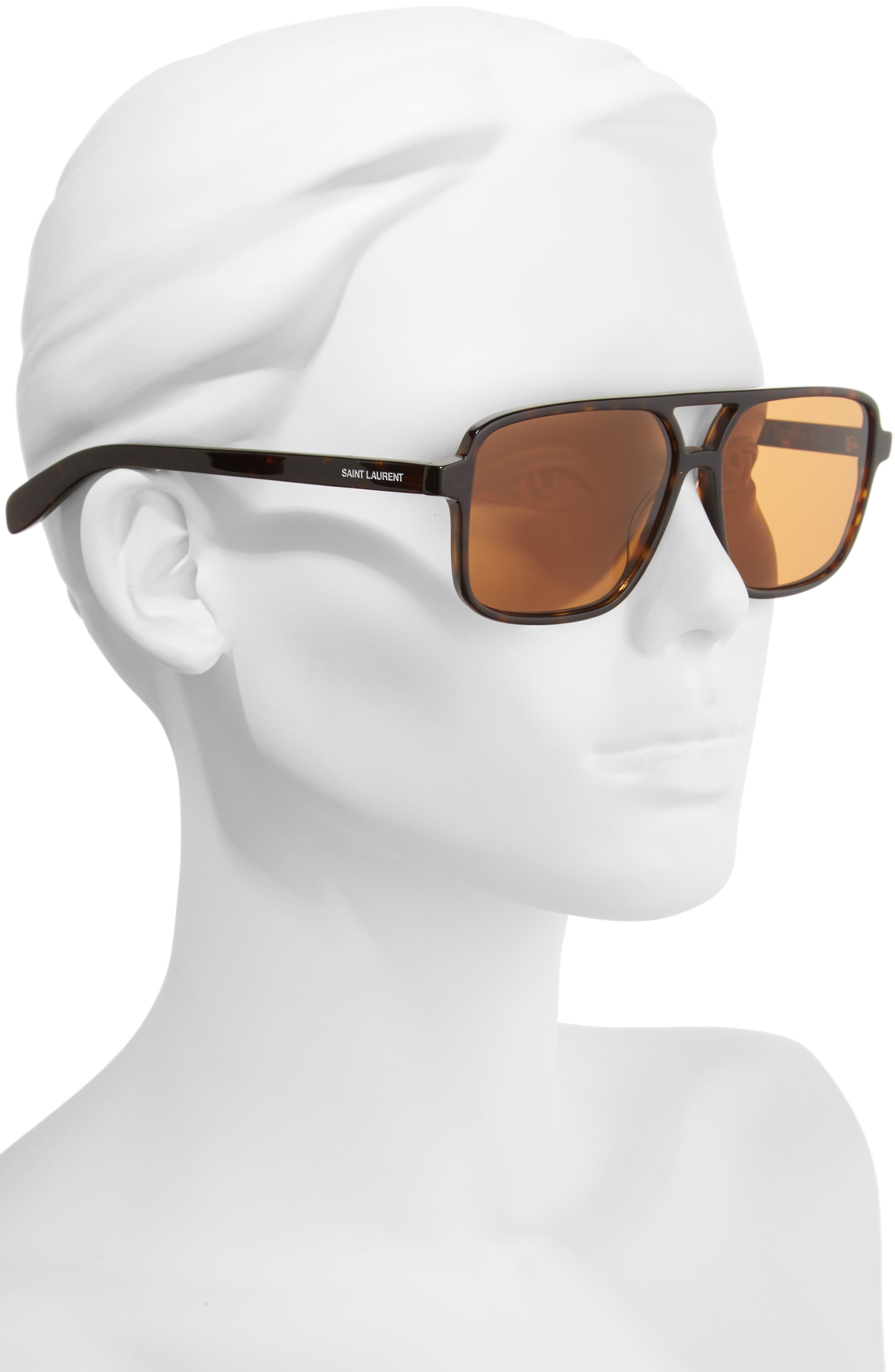 Alternate Image 2  - Saint Laurent 58mm Square Navigator Sunglasses