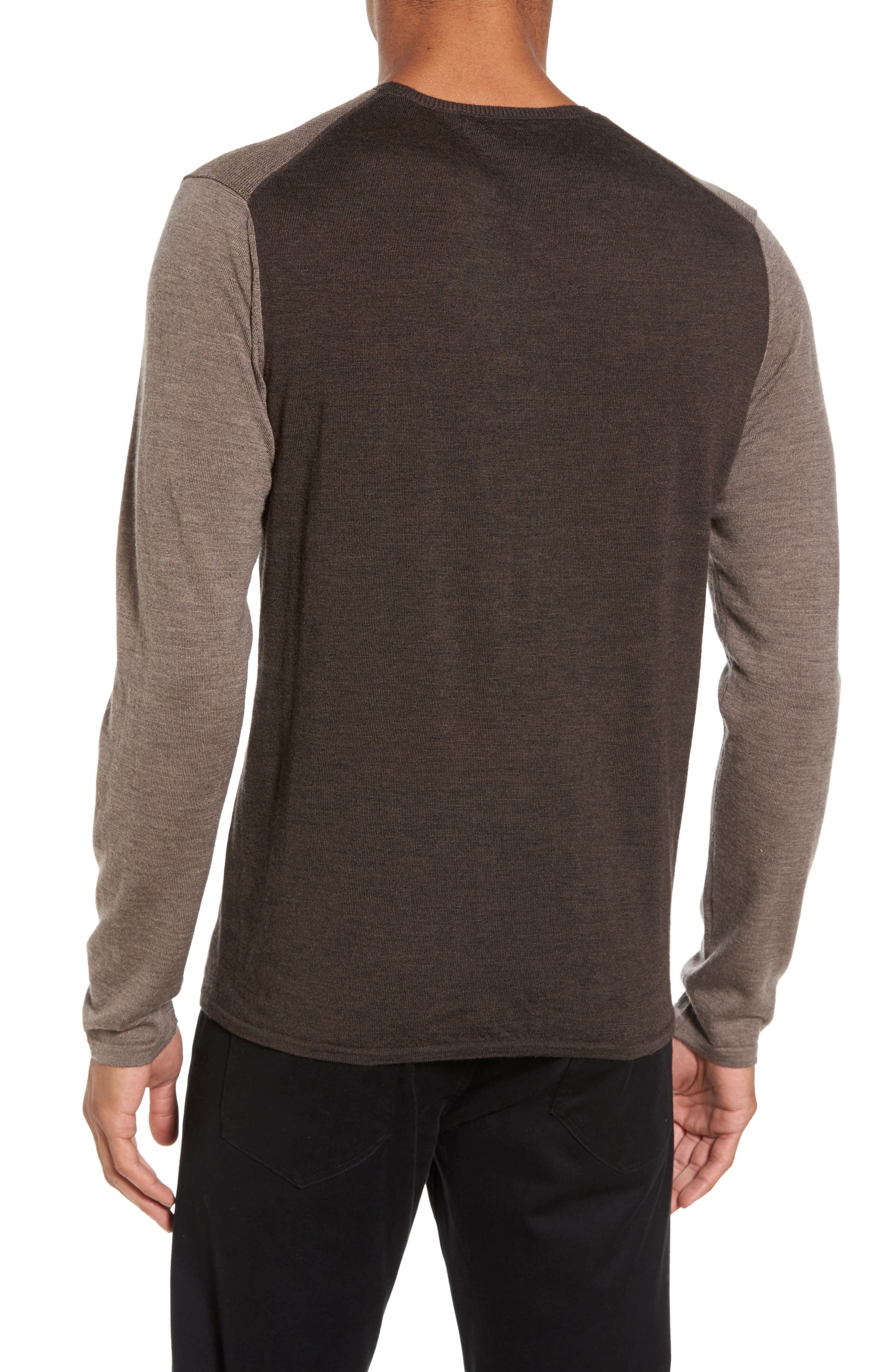 Huxley Merino Sweater,                             Alternate thumbnail 2, color,                             Light Coffee