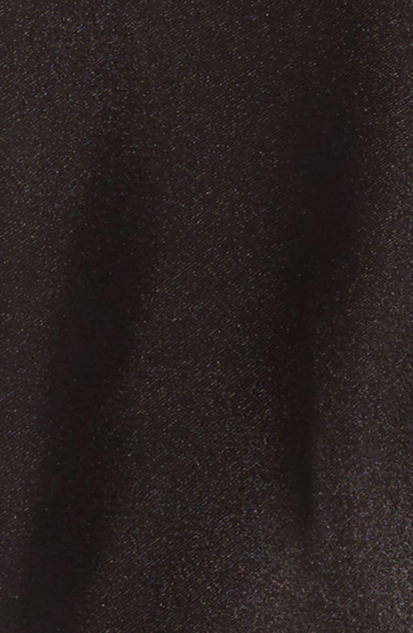 Skinny Scarf,                             Alternate thumbnail 4, color,                             Black Combo