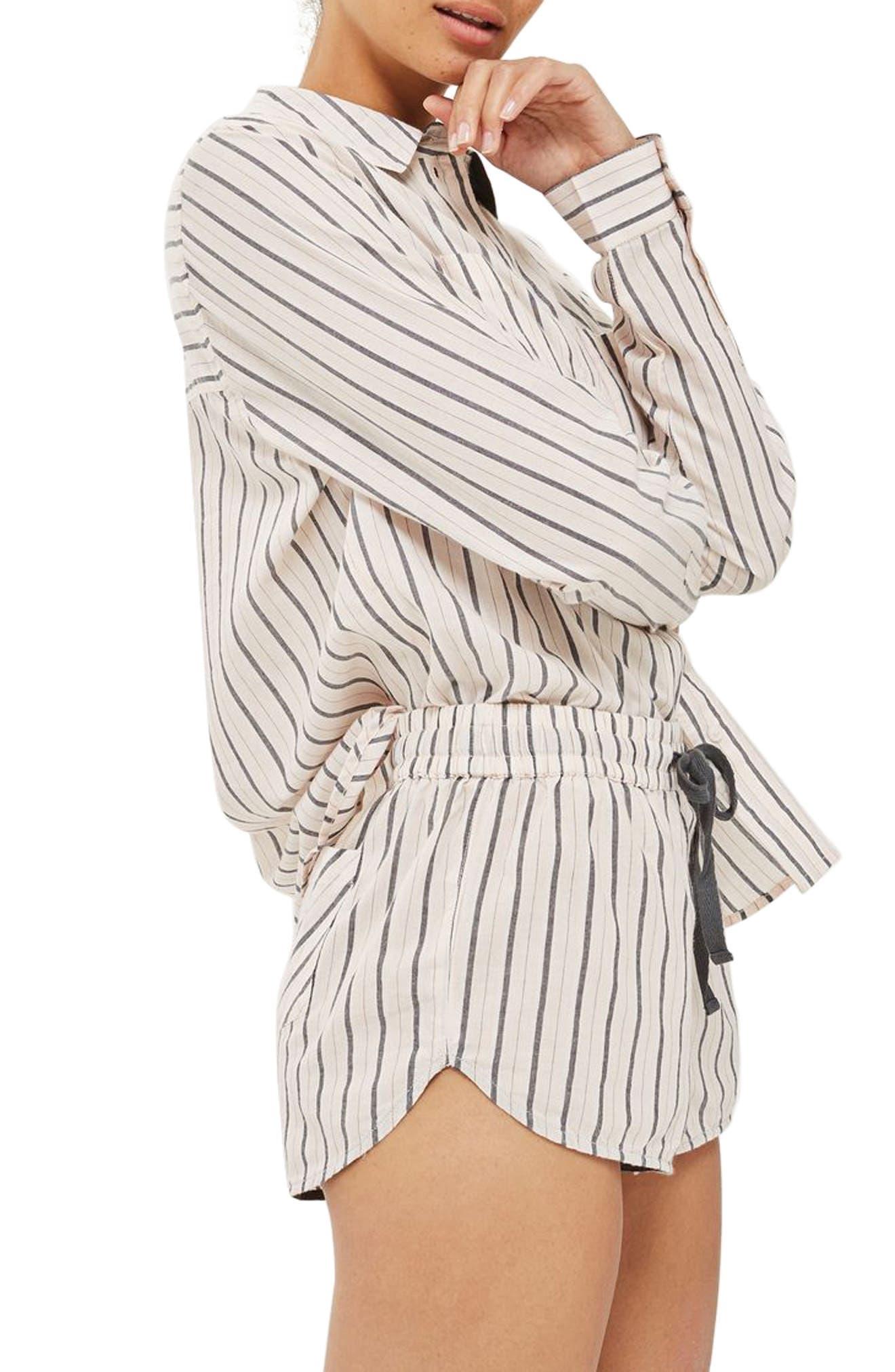Alternate Image 3  - Topshop Stripe Pajama Shorts