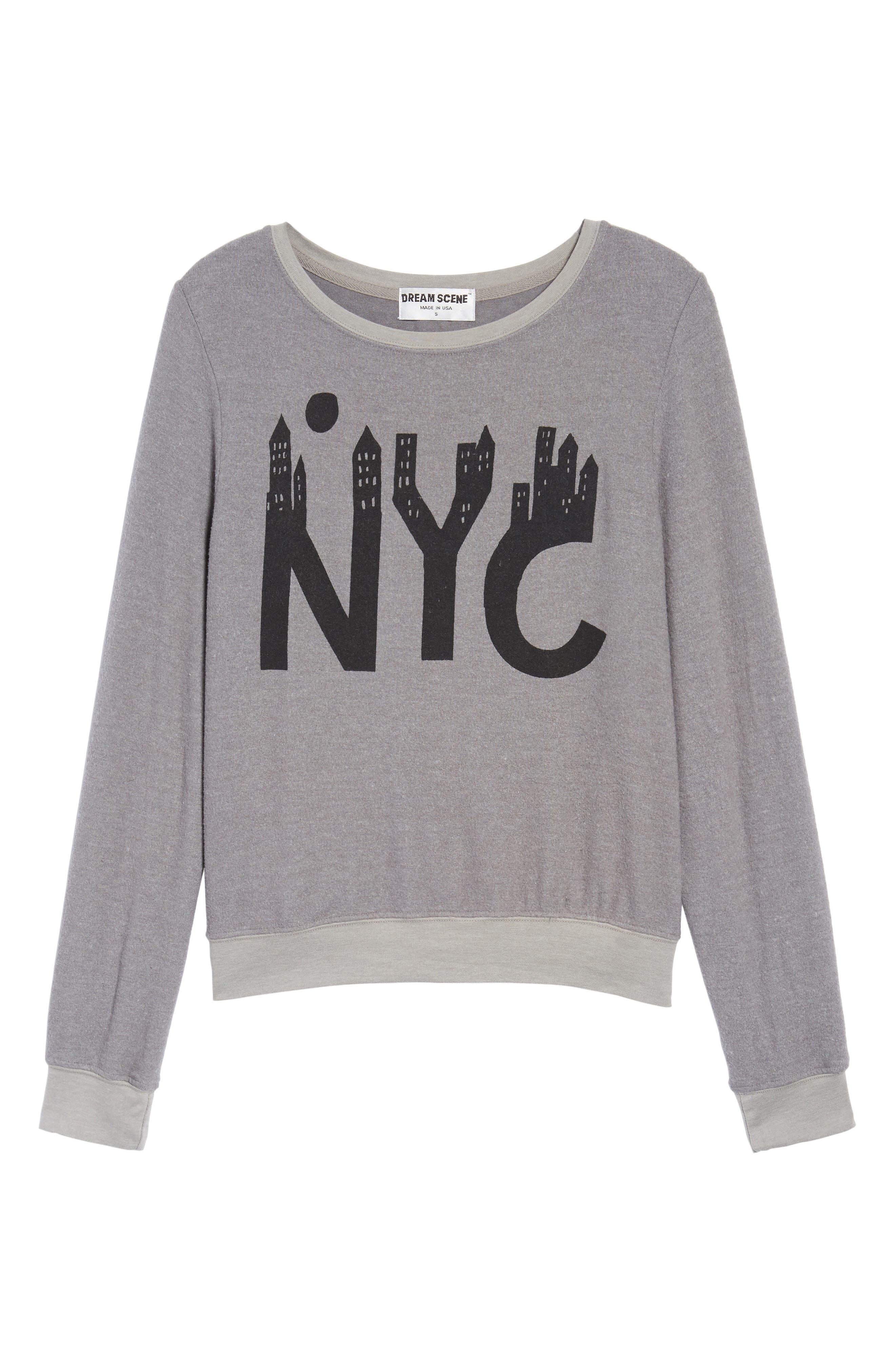 NYC Sweatshirt,                             Alternate thumbnail 6, color,                             Vintage Grey