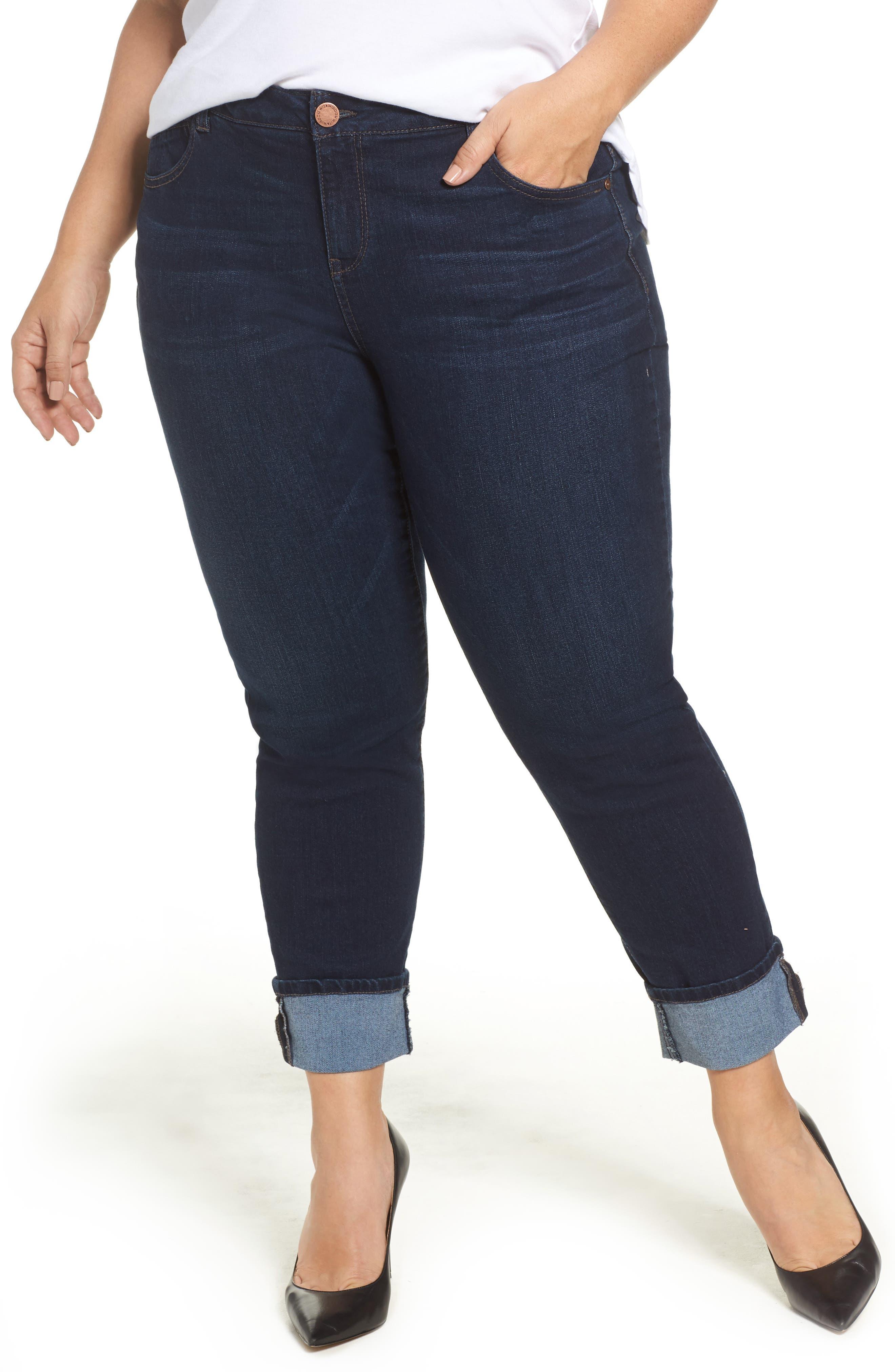 Wit & Wisdom Flex-ellent Boyfriend Jeans (Plus Size) (Nordstrom Exclusive)