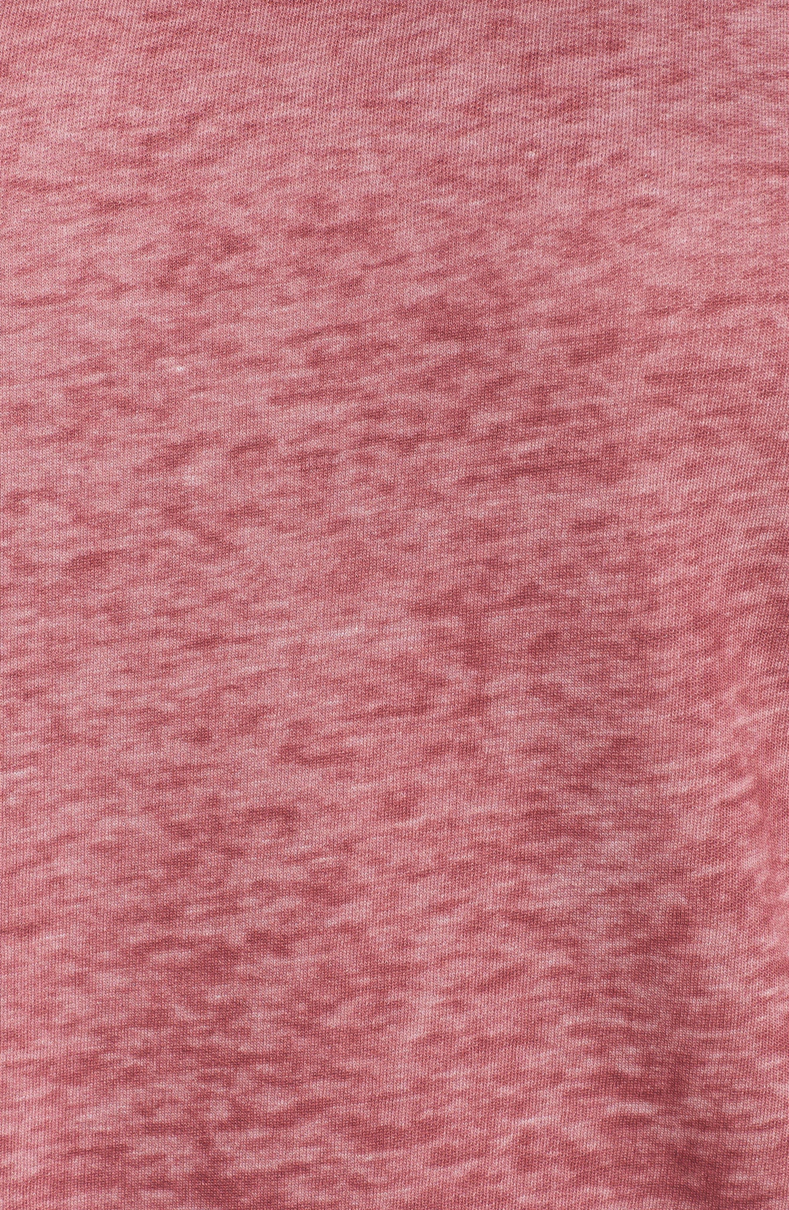 Pleat Back Sweatshirt,                             Alternate thumbnail 5, color,                             Burgundy Thorn