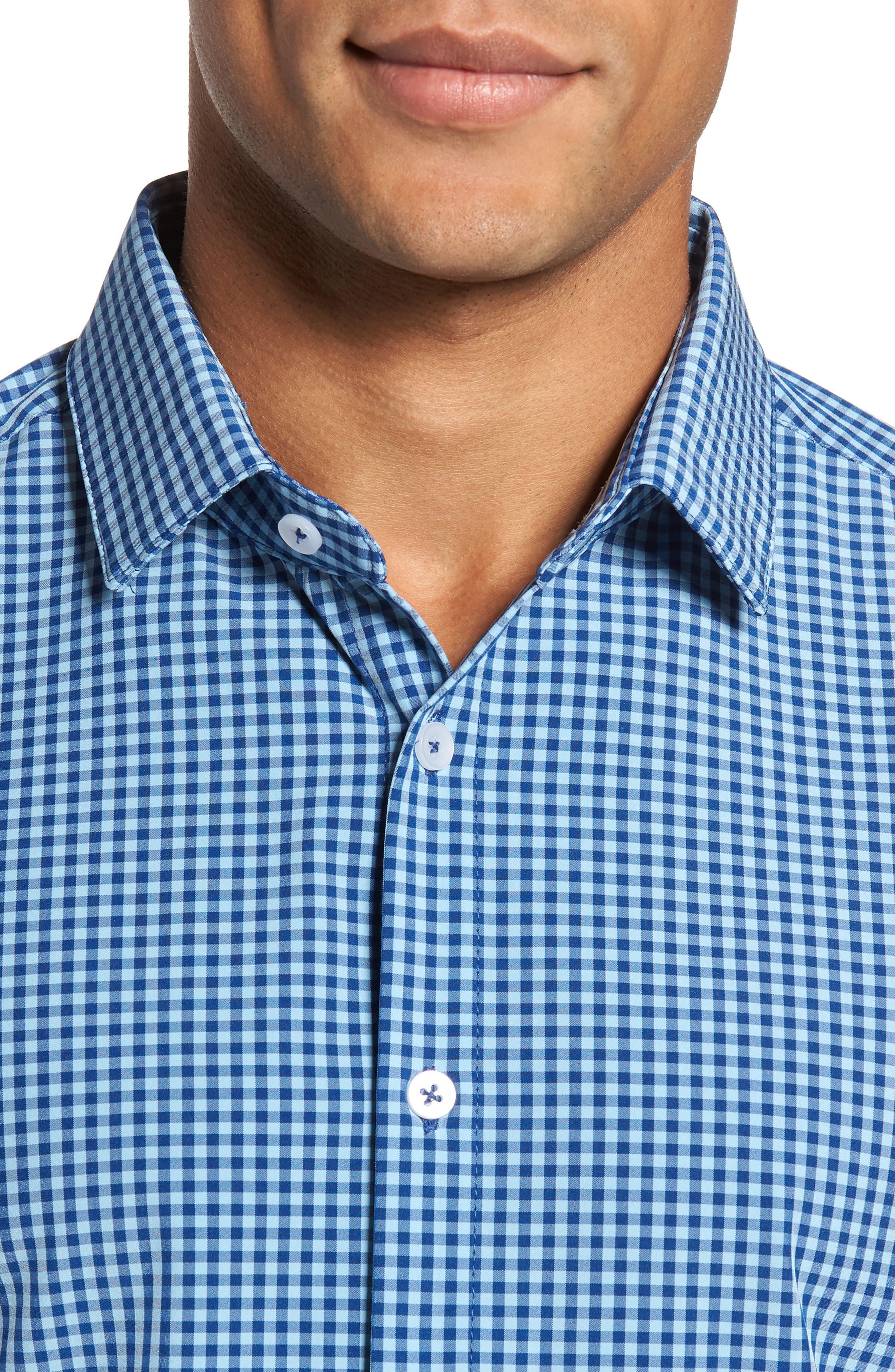Brighton Blue Check Sport Shirt,                             Alternate thumbnail 2, color,                             Blue
